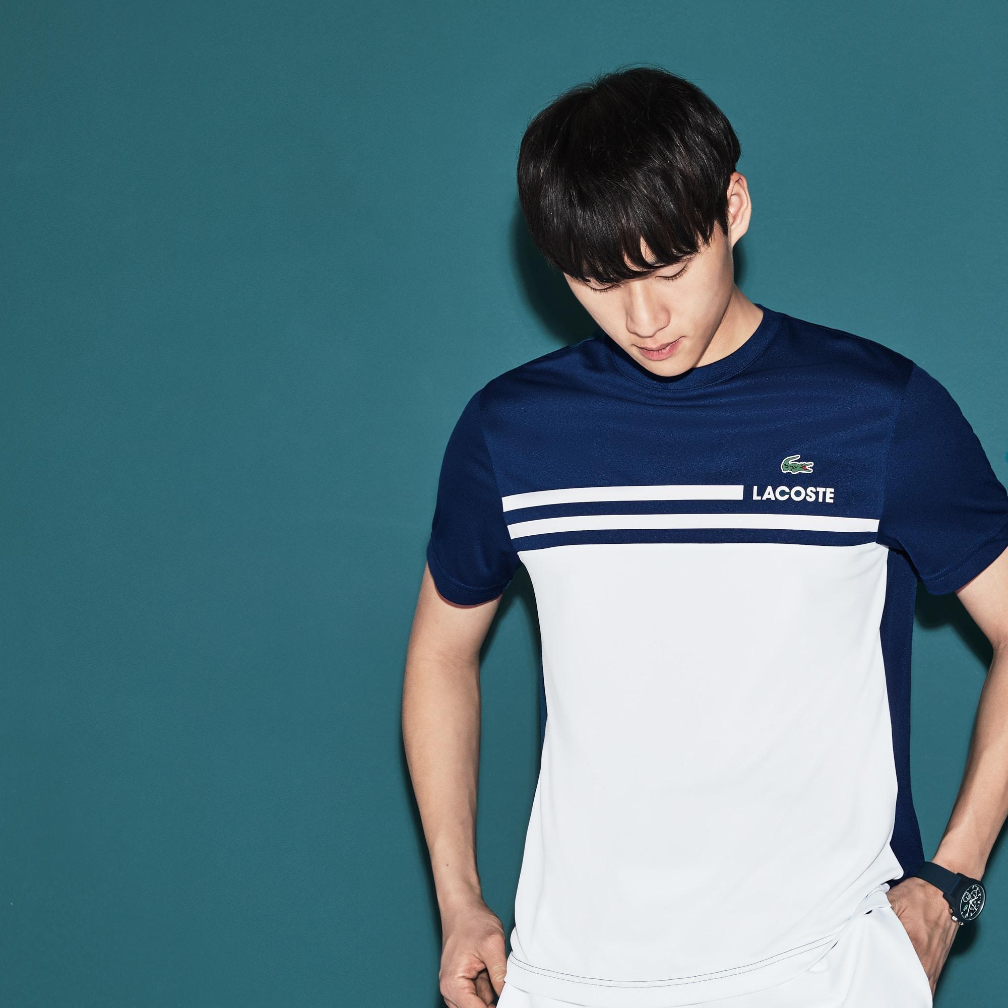 Men's Lacoste SPORT Colorblock Technical Piqué Tennis T-shirt
