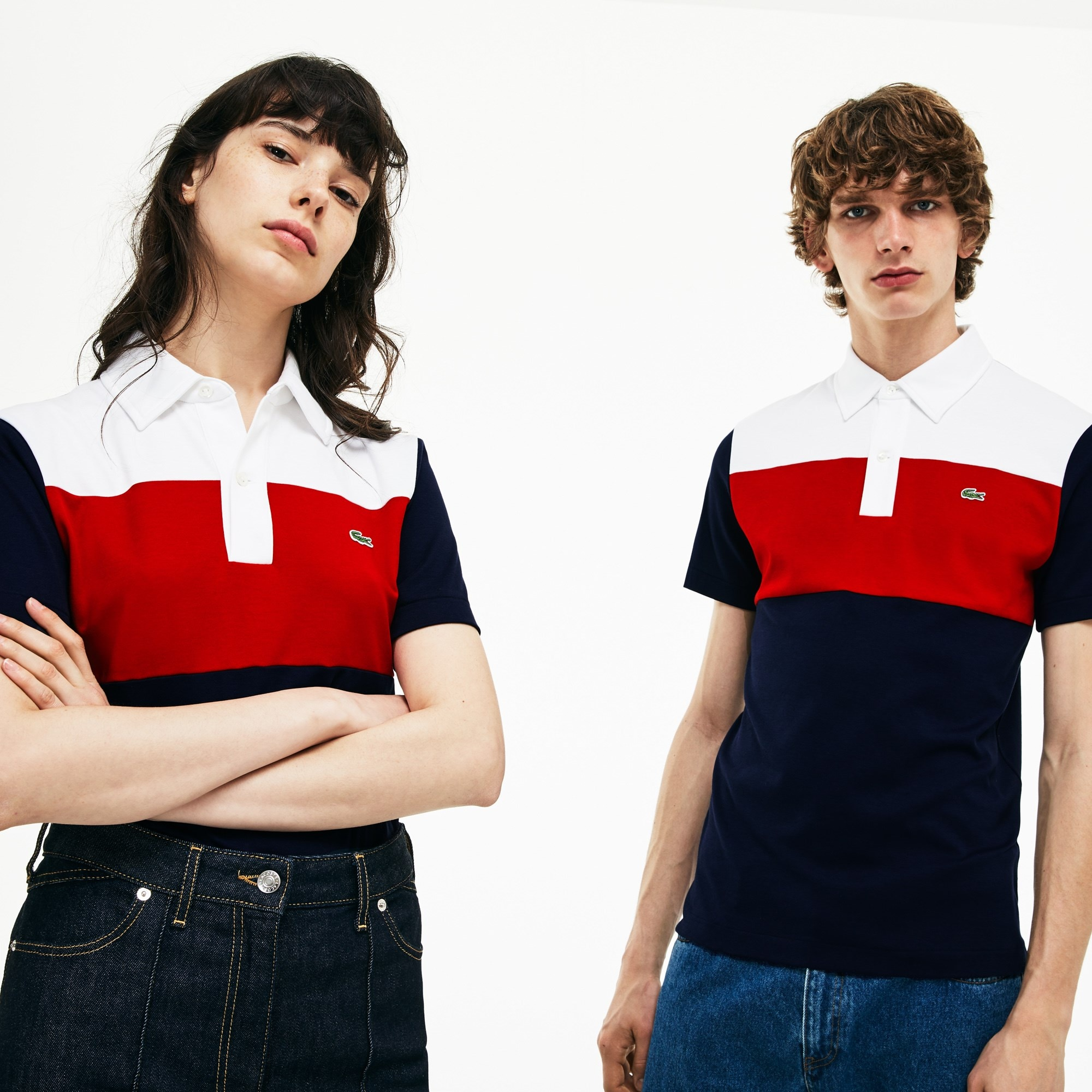 Unisex 1970s Revival Lacoste 85th Anniversary Limited Edition Interlock Polo Shirt by Lacoste