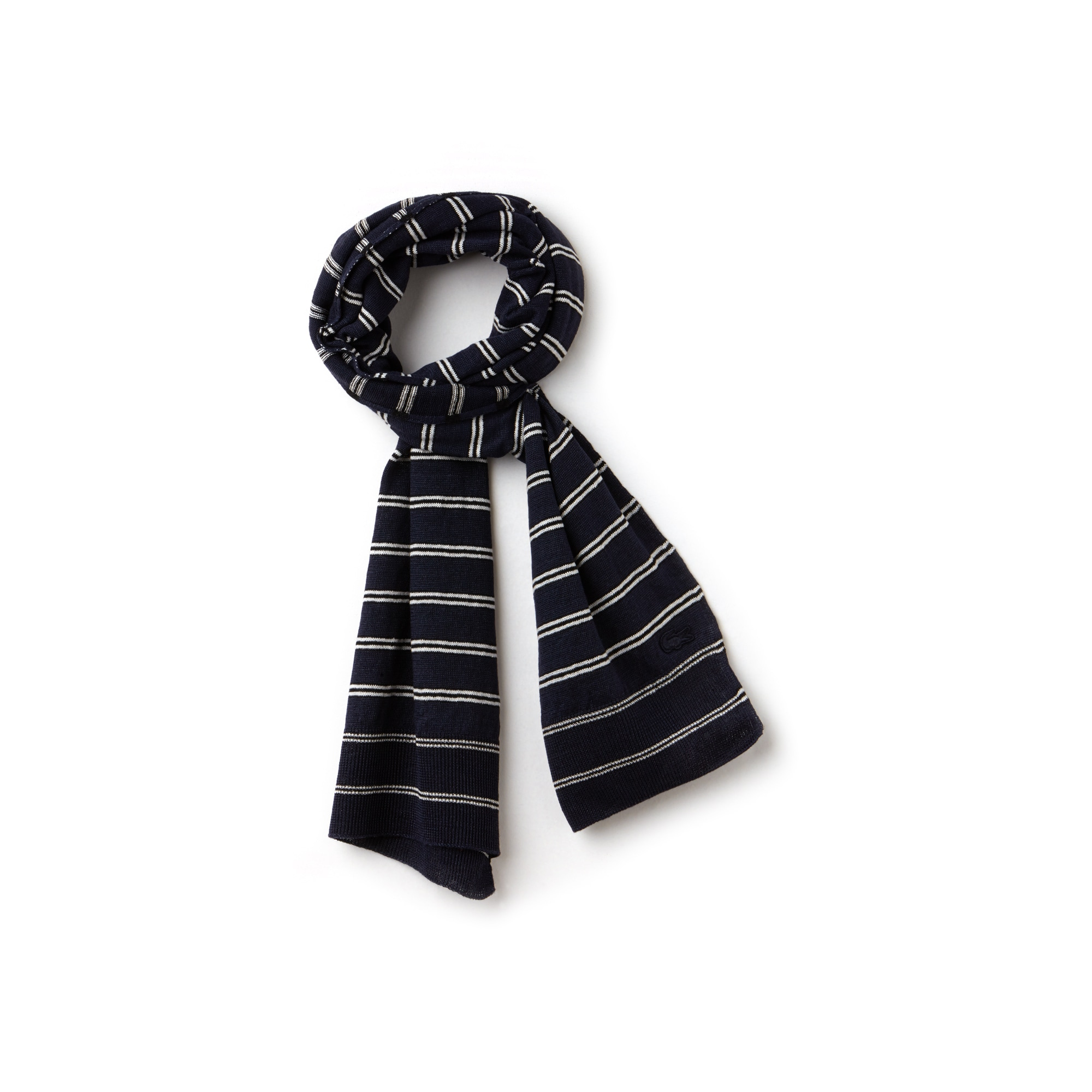 Women's Striped Cotton And Linen Jersey Scarf