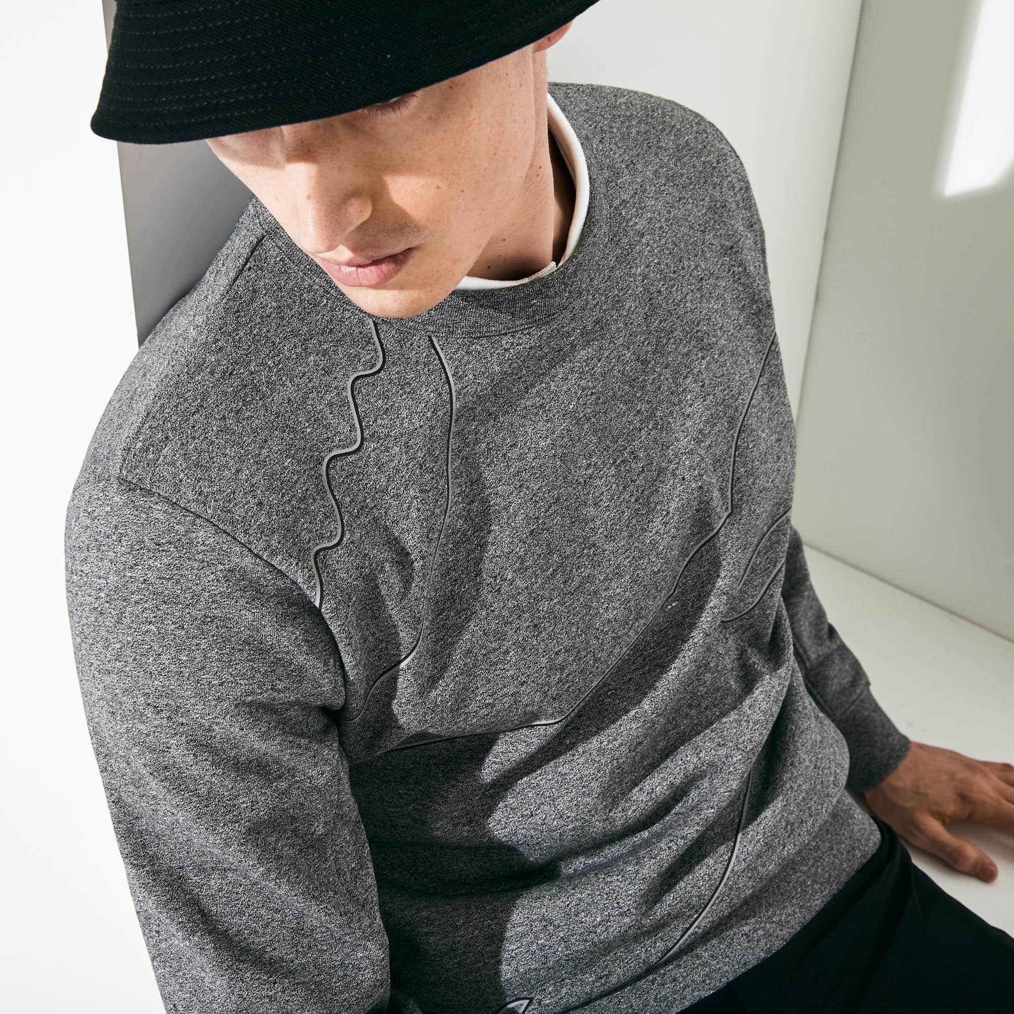 8a789a34dd96 Men s Lacoste SPORT Oversized Croc Brushed Fleece Sweatshirt