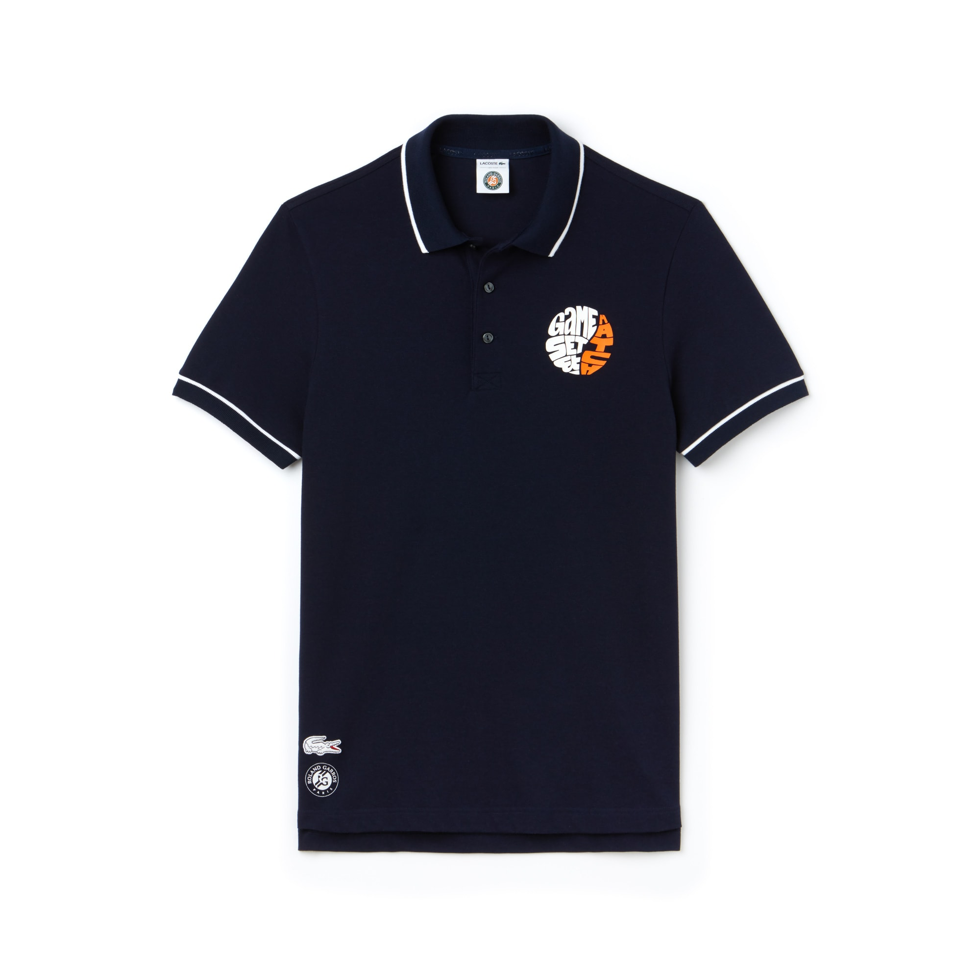 Men's Lacoste SPORT Roland Garros Edition Stretch Mini Piqué Polo Shirt