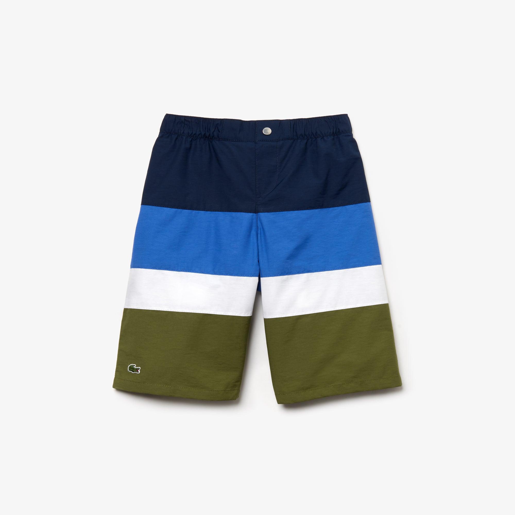 0c8100227f 30% off. Boys' Striped Print Canvas Swimming Trunks