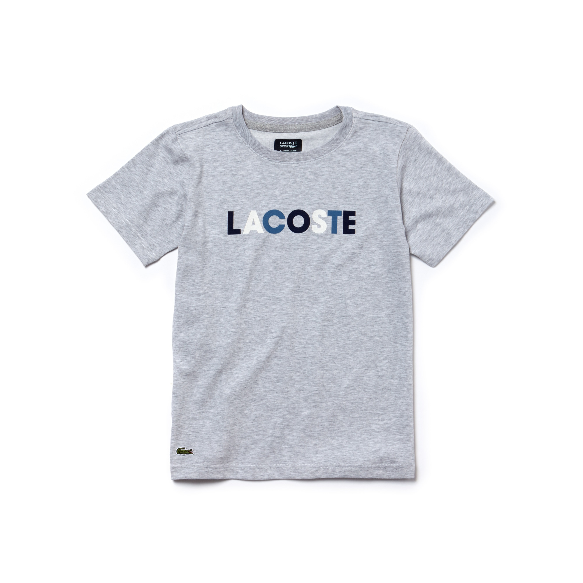 Boys' Lacoste SPORT Lettering Technical Jersey Tennis T-shirt
