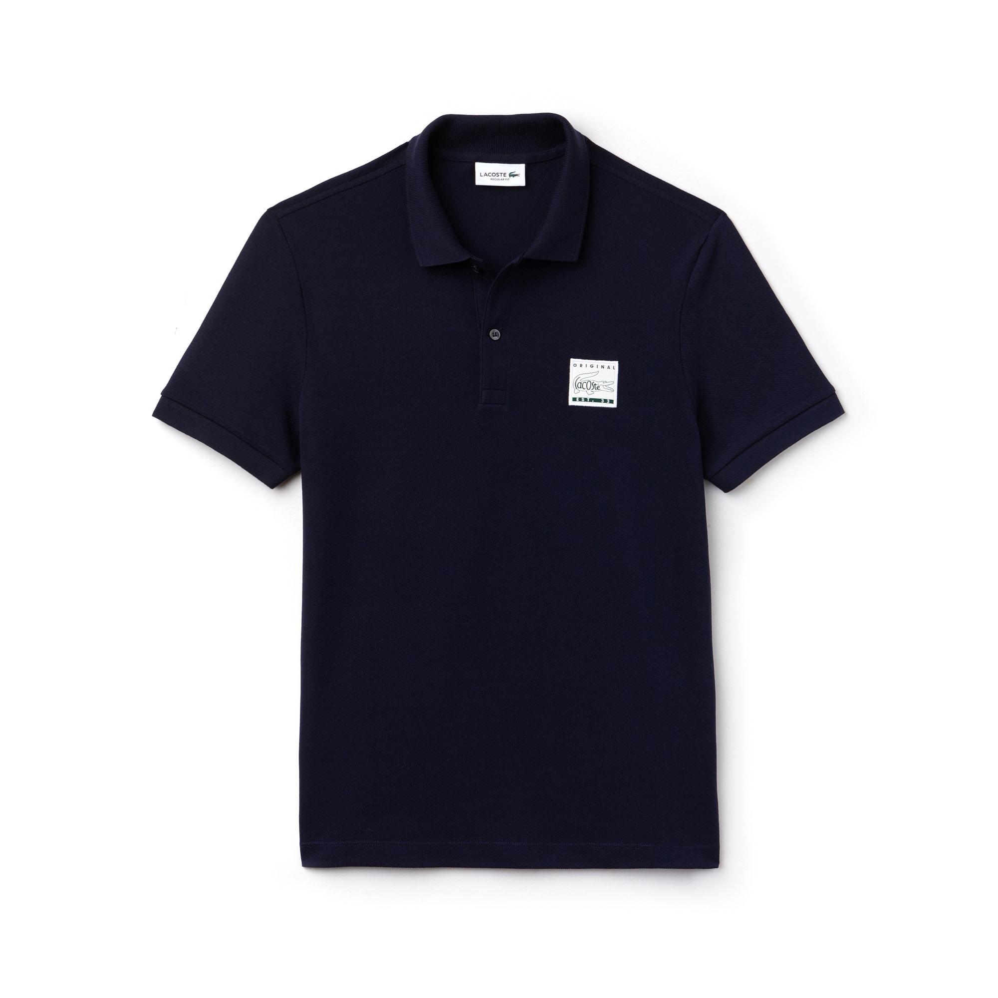 Men's Lacoste Regular Fit Patch Cotton Petit Piqué Polo Shirt