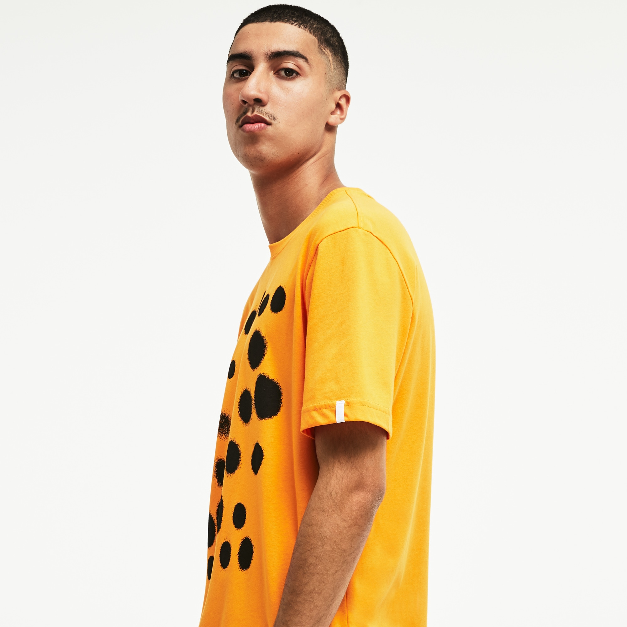 Men's Lacoste LIVE Crew Neck Spray Paint Print Jersey T-shirt