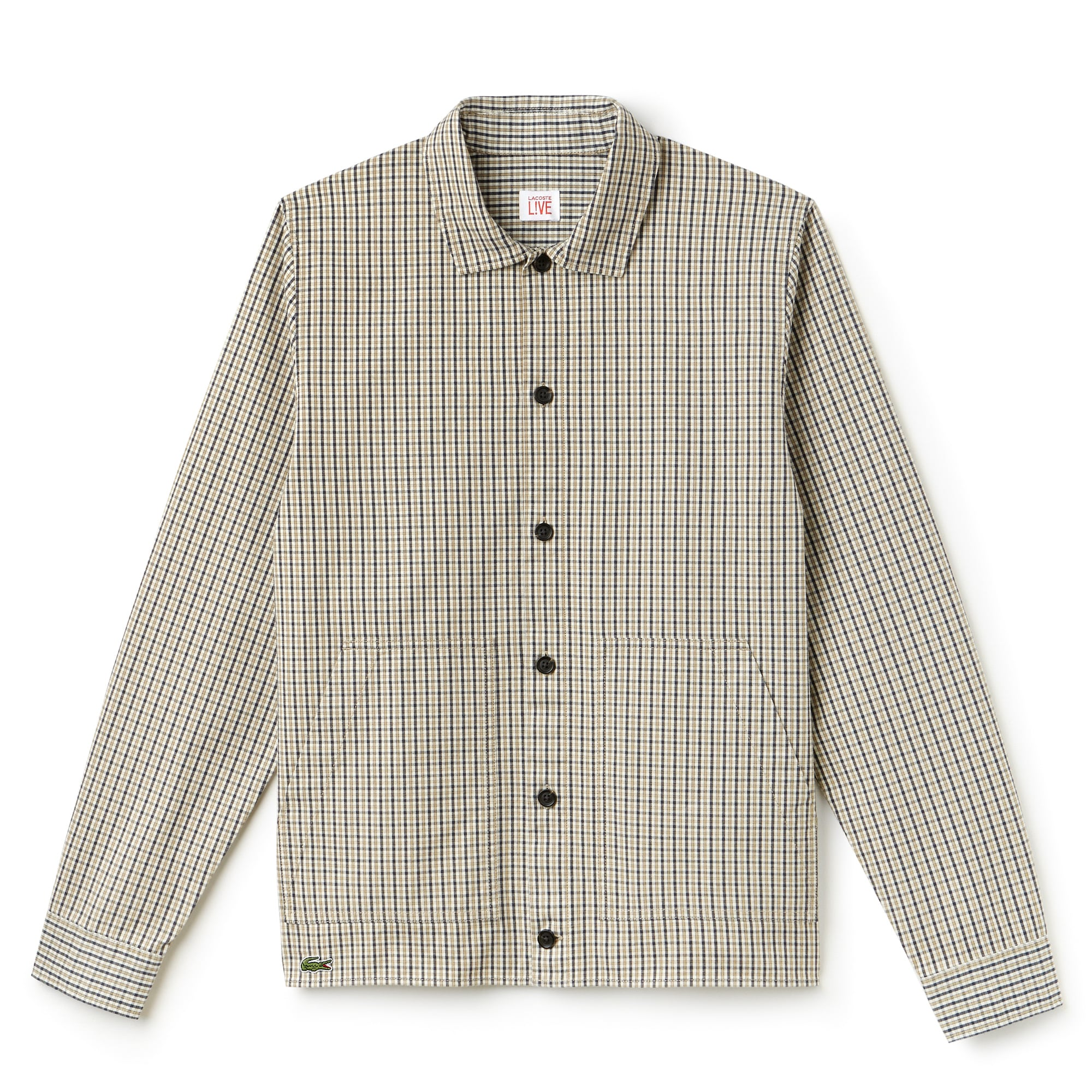 Men's Lacoste LIVE Slim Fit Check Flannel Shirt