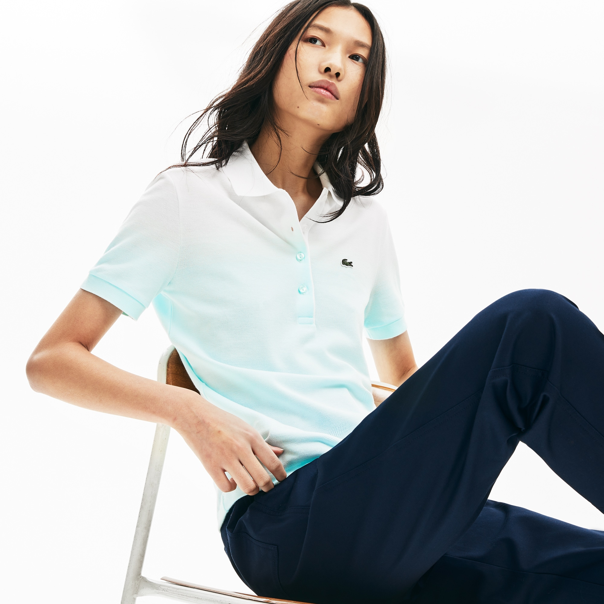 Women's Lacoste Made in France Organic Cotton Piqué Polo Shirt