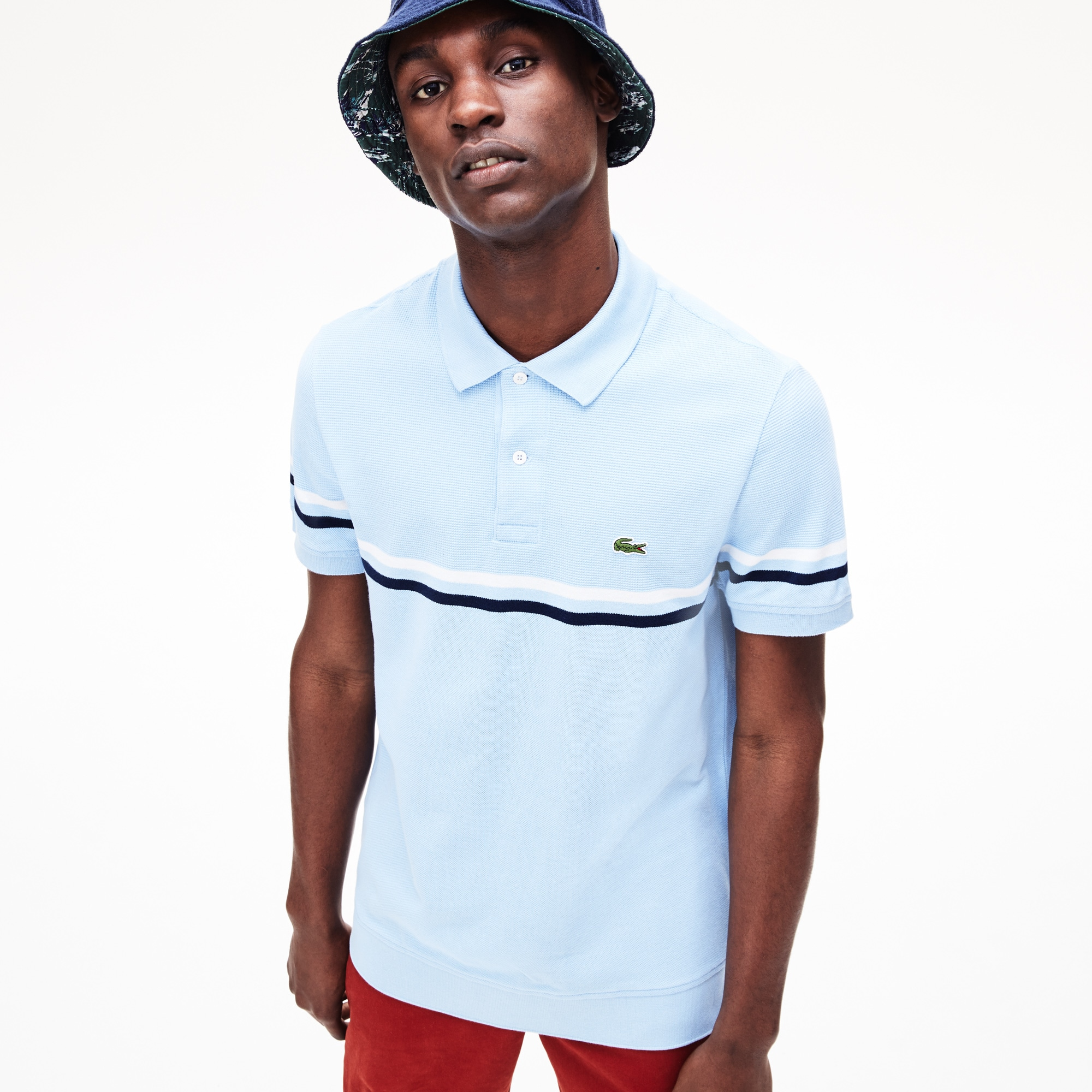 1b9f4d6b Men's Lacoste Regular Fit MADE IN FRANCE Tricolour Striped Piqué Polo Shirt  | LACOSTE