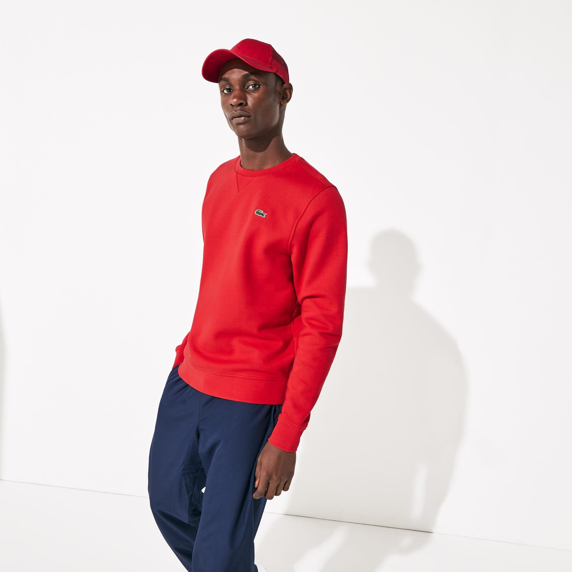 7d31bb1d1 Men s Lacoste SPORT crew neck sweatshirt in solid fleece