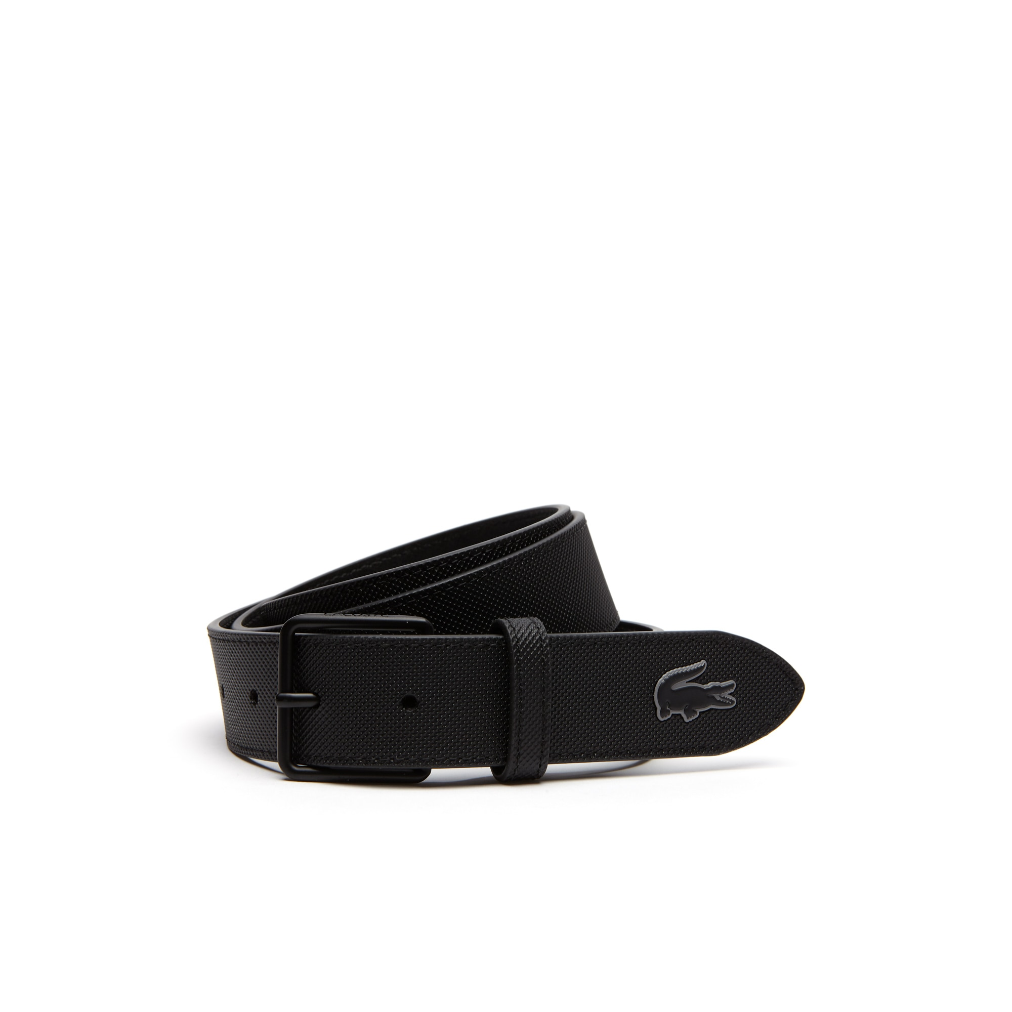 Men's L.12.12 Concept Petit Piqué Tongue Buckle Belt