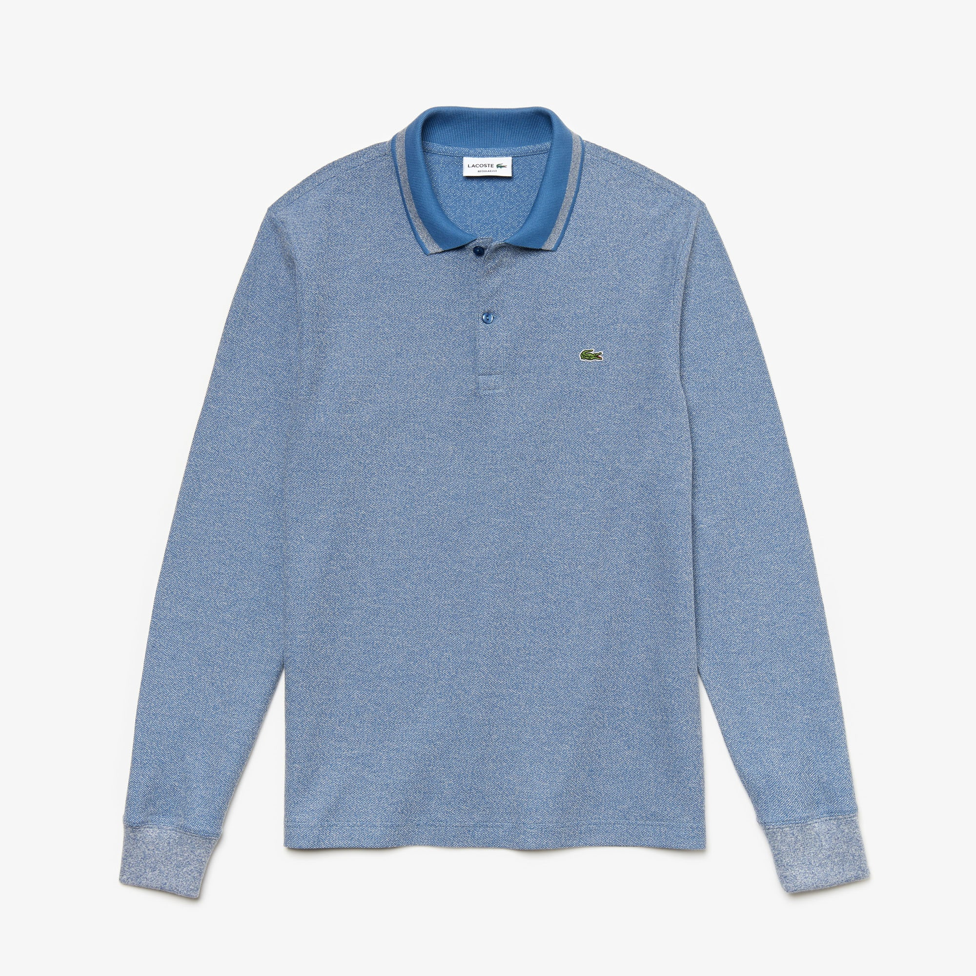 8a98210d53 Men's Lacoste Regular Fit Heathered Piqué Polo Shirt