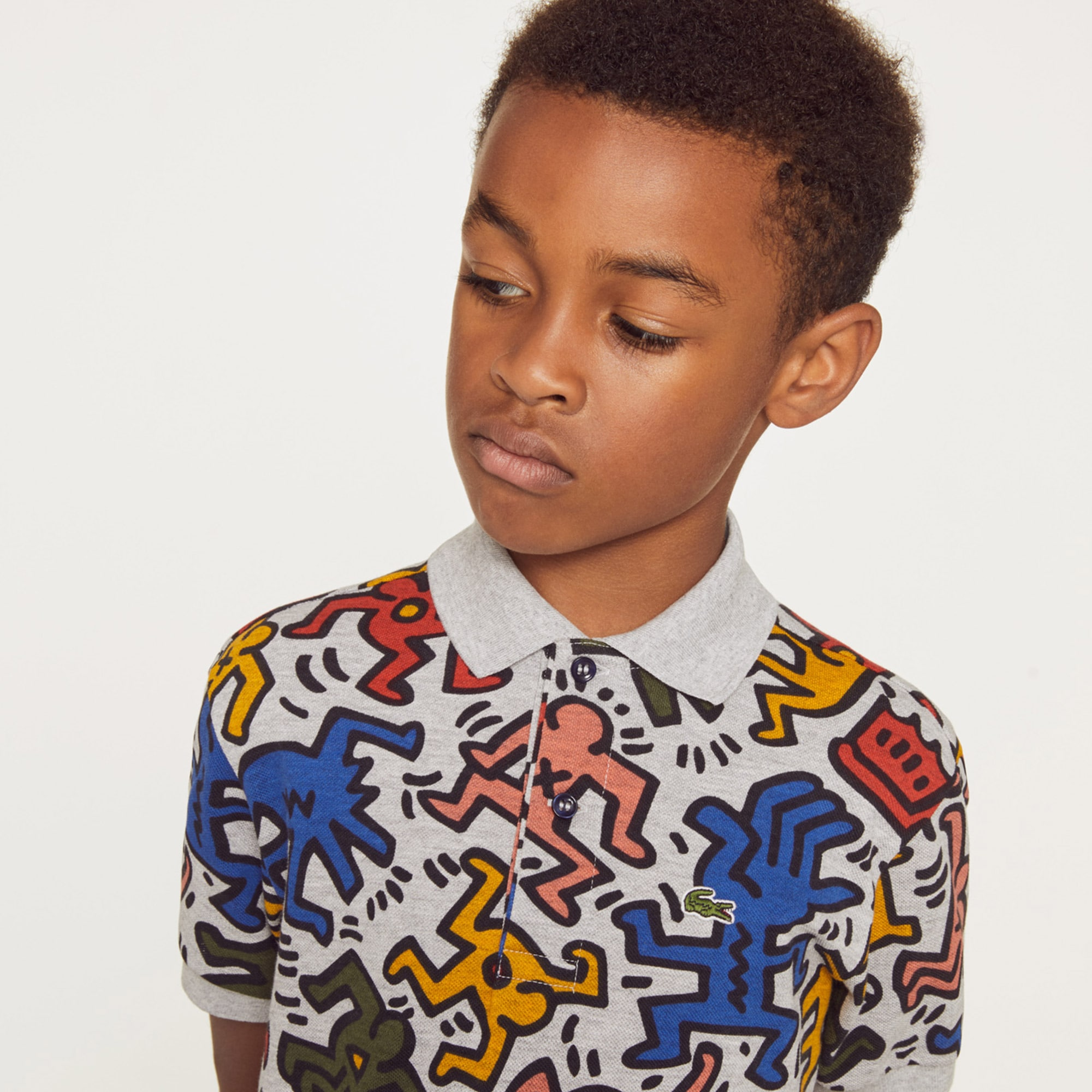e25a8f8a Boys' Lacoste Keith Haring Print Mini Piqué Polo Shirt | LACOSTE