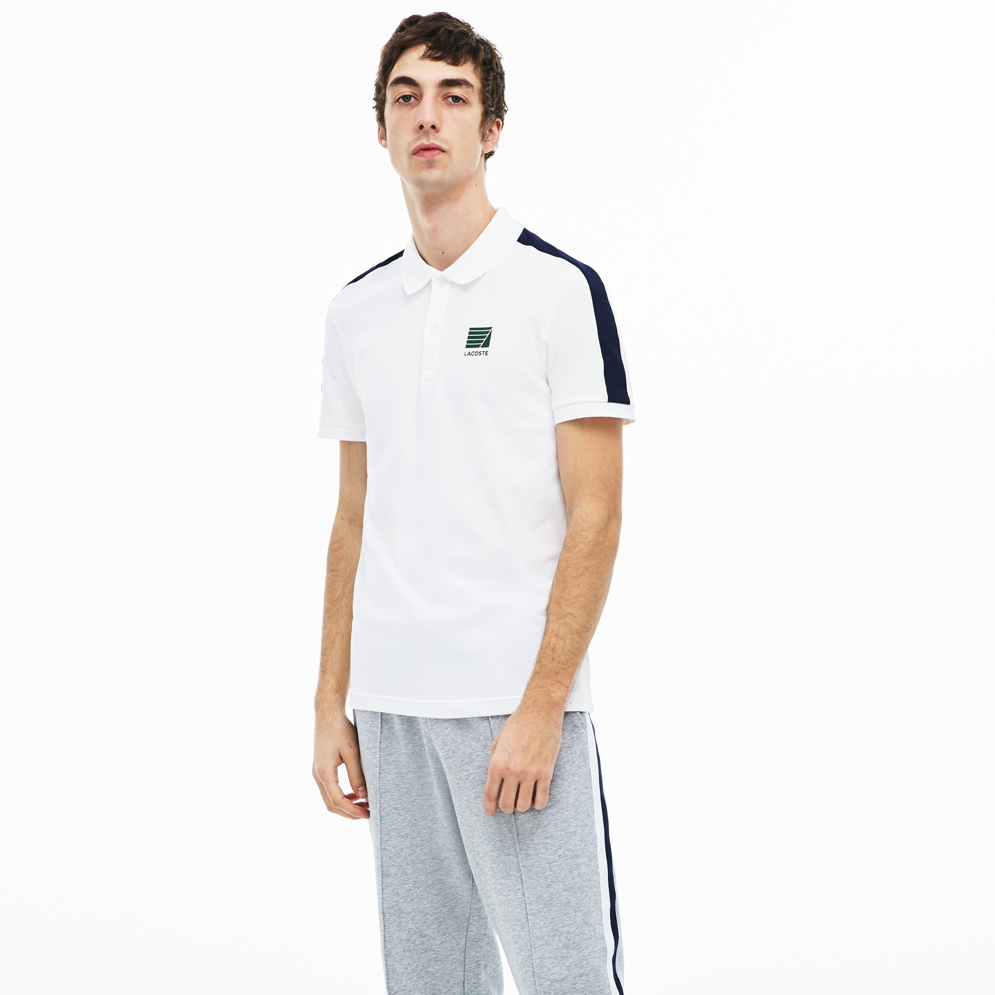 3a770d6a33b6 Men's Slim Fit Stretch Cotton Mini Piqué Polo Shirt | LACOSTE