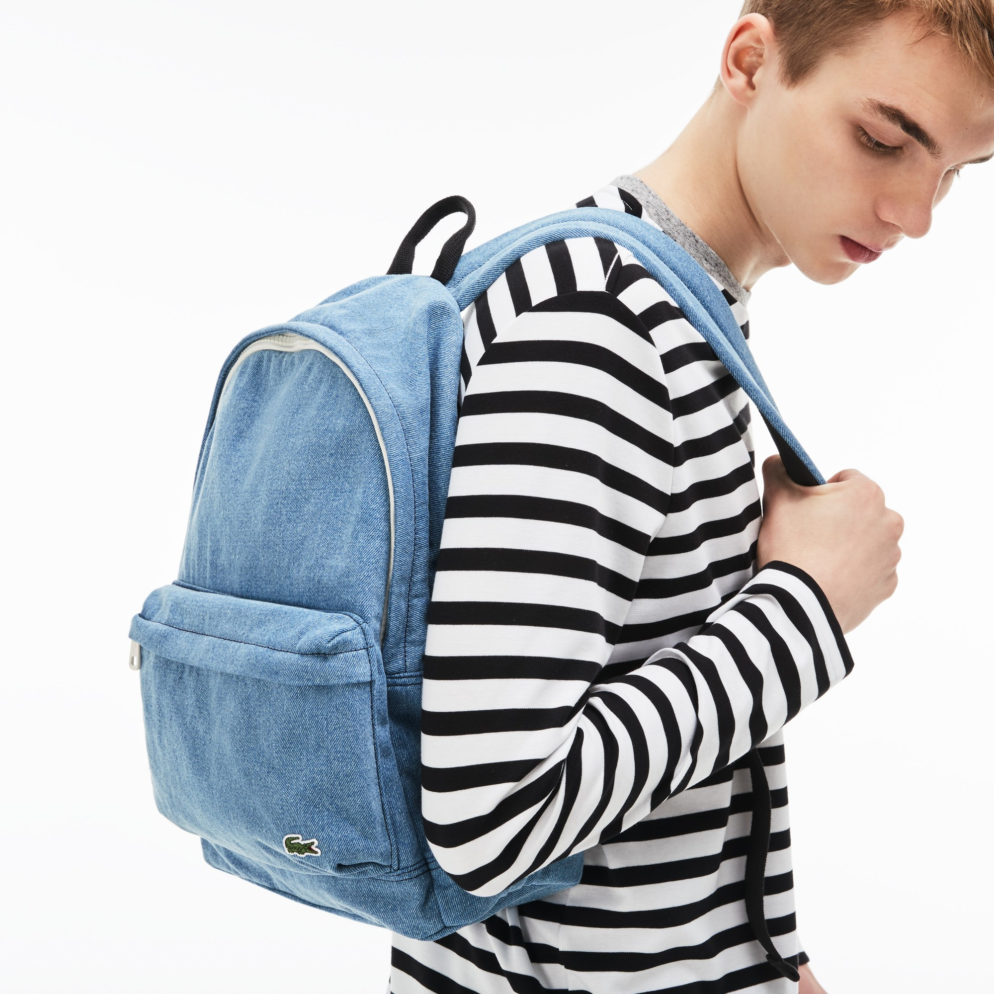 Men's Street Live Denim Effect Cotton Backpack