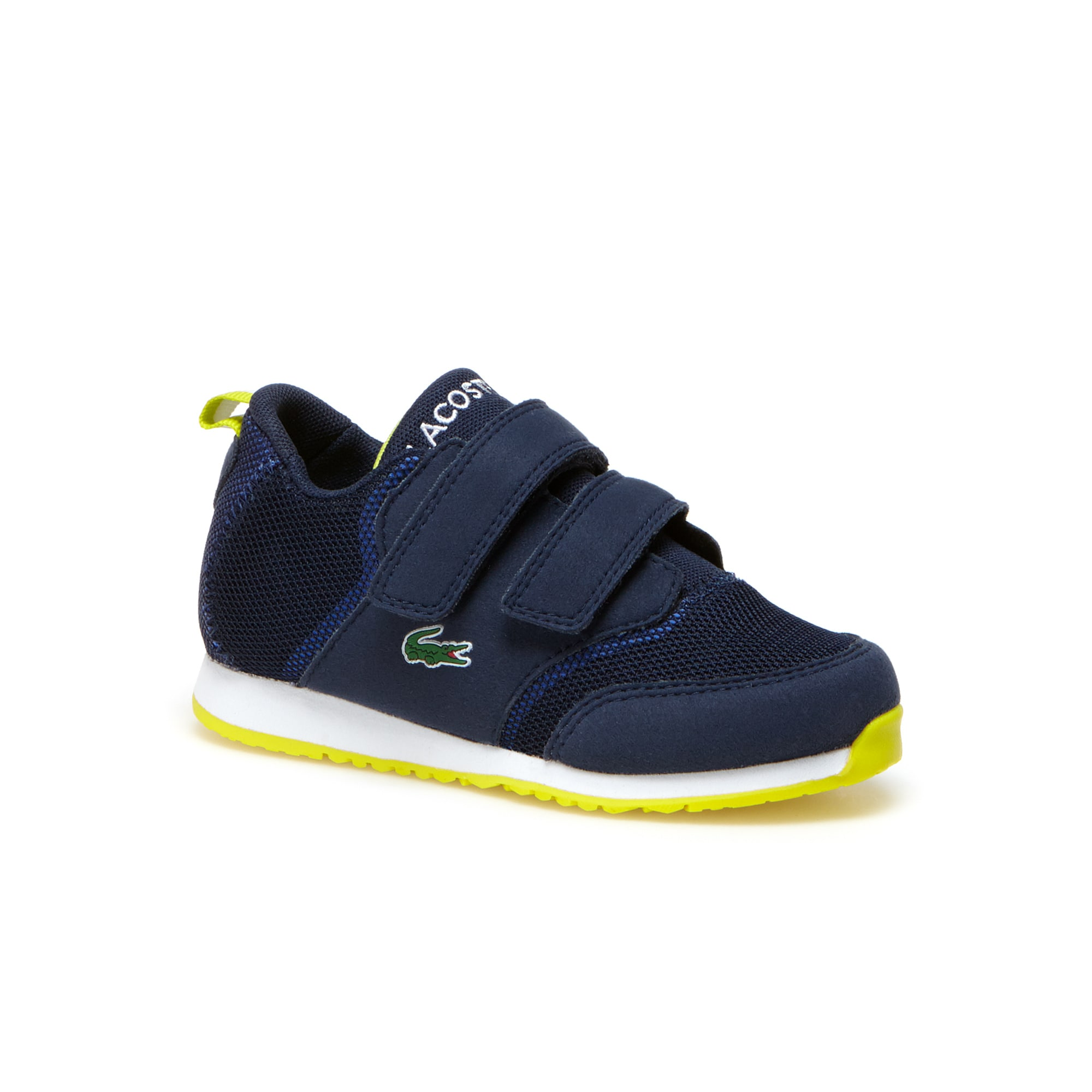 Kids' L.IGHT Breathable Canvas Double Hook and loop Strap Trainers