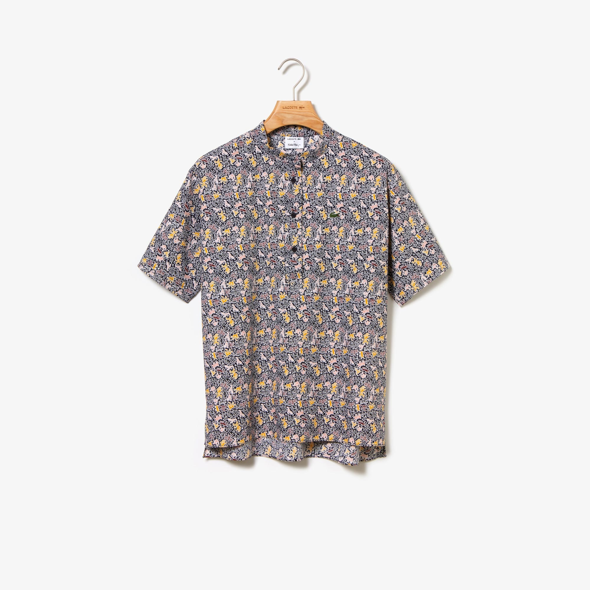 Women's Keith Haring Print Regular Fit Silk Shirt