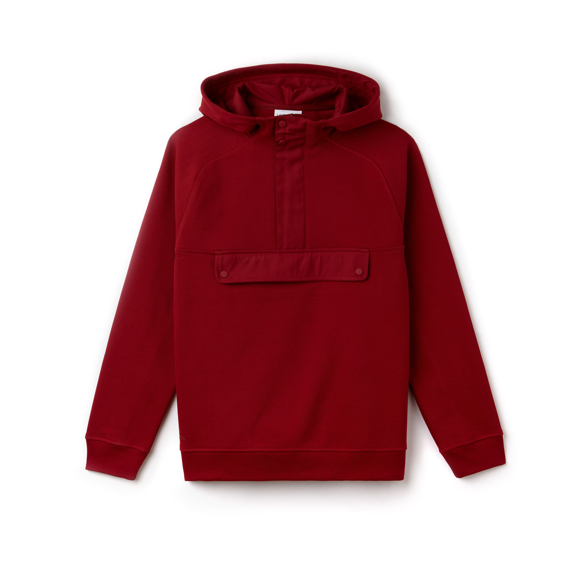 Men's Hooded Cotton Jacquard Piqué Sweatshirt