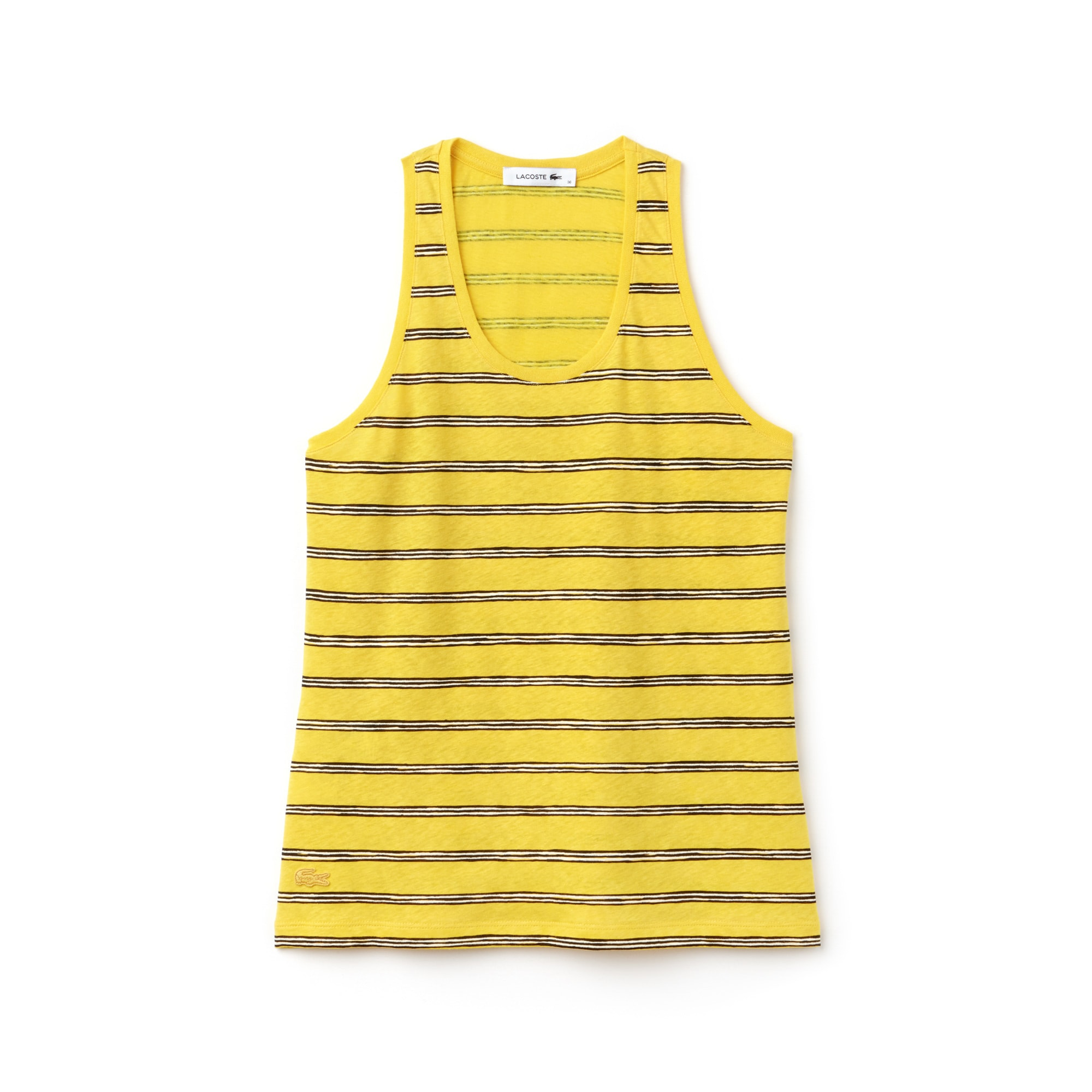 Women's Striped Cotton And Linen Jersey Tank Top