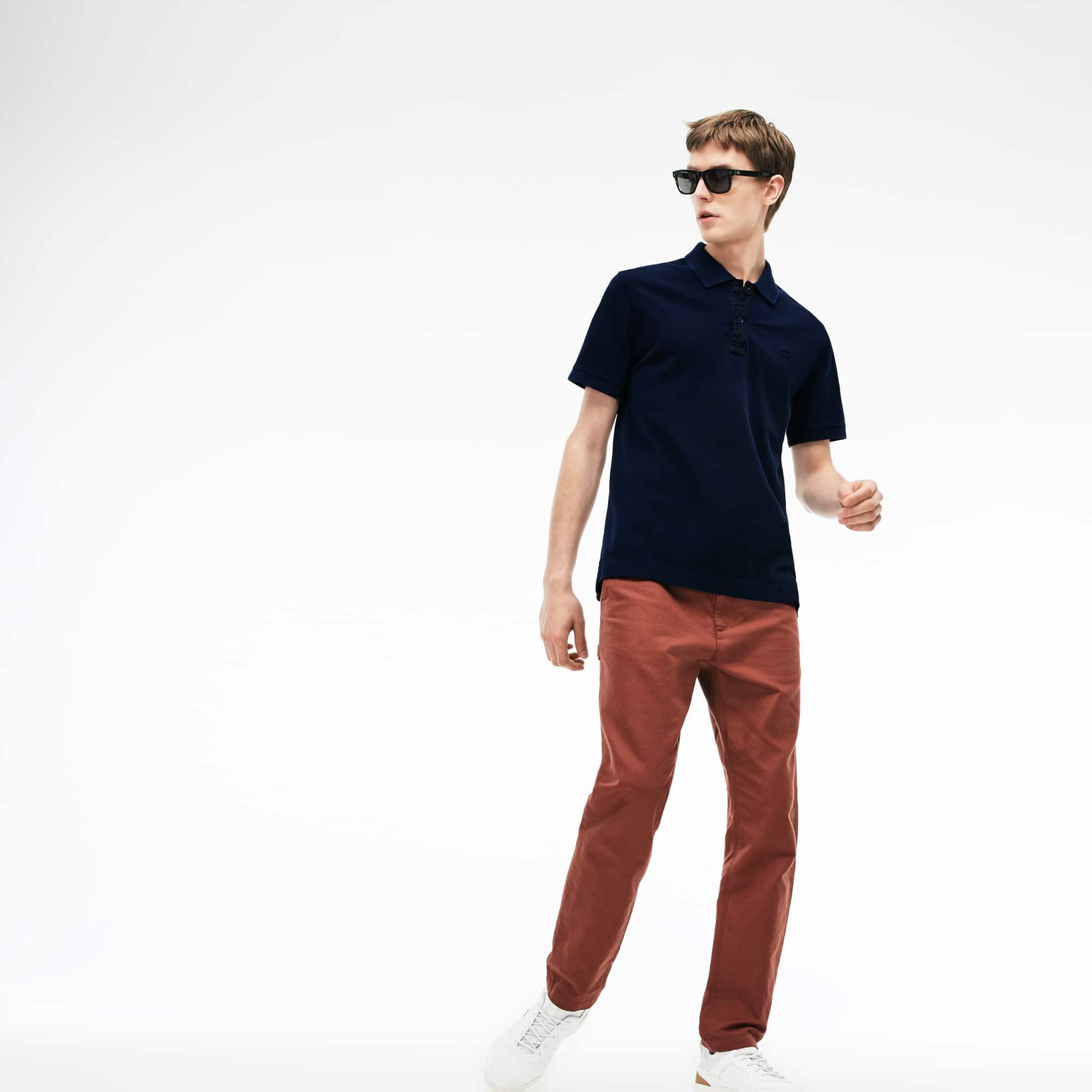 Men's Lacoste Regular Fit Square Knit Polo Shirt