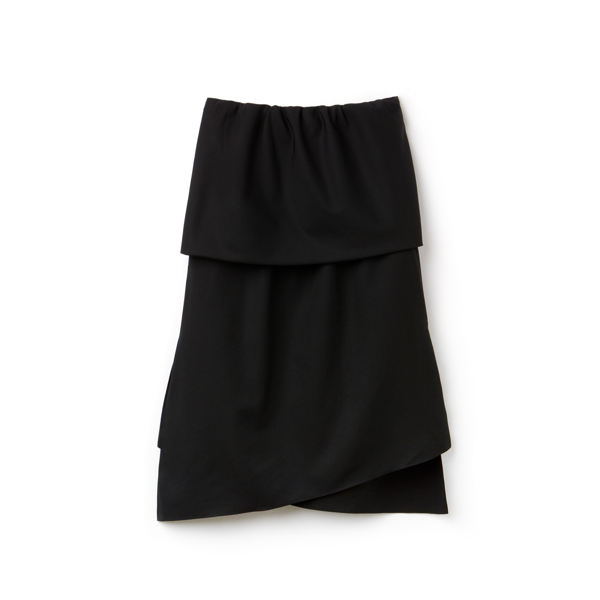 Women's Fashion Show Asymmetrical Twisted Tech Taffeta Skirt