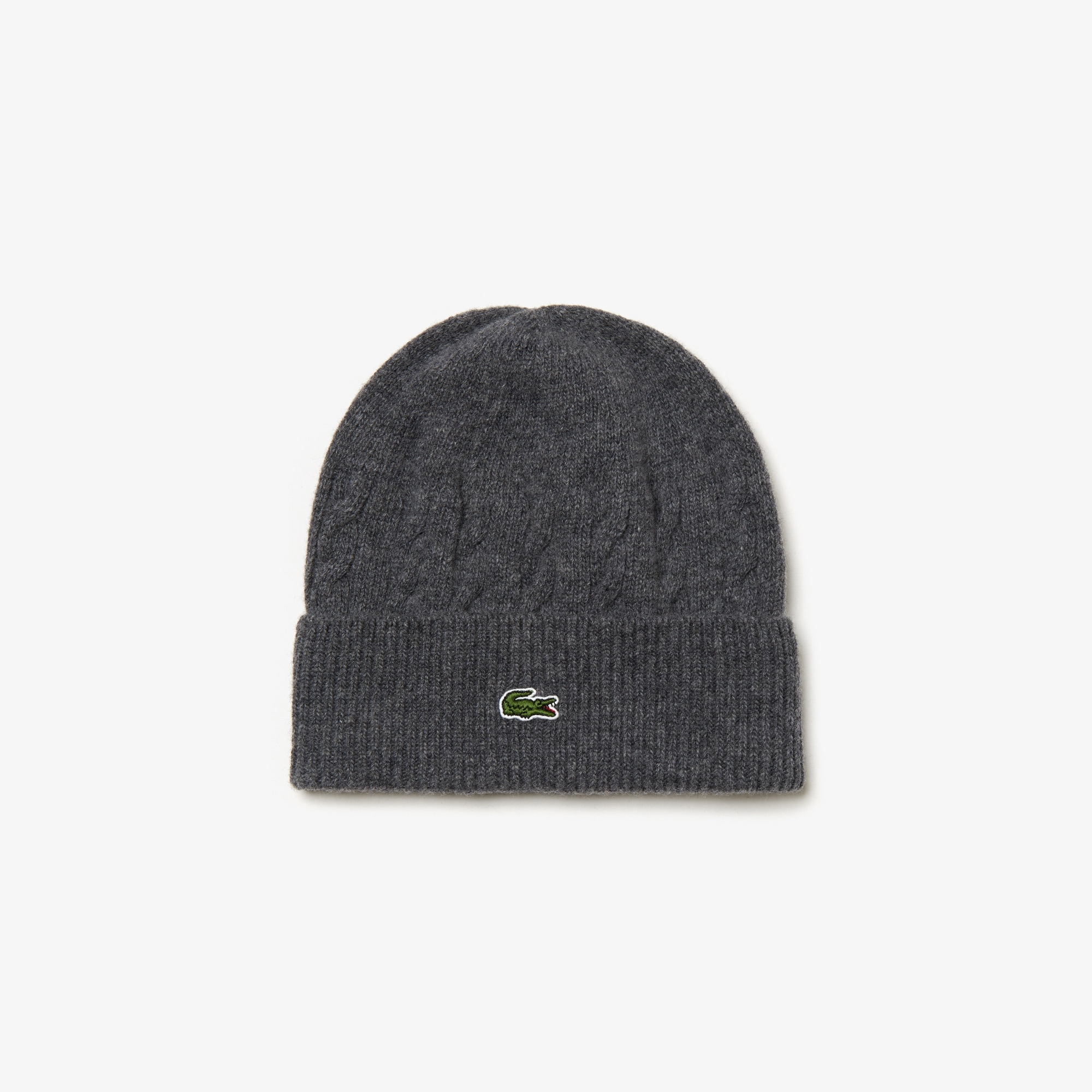 Men's Wool And Alpaga Blend Knit Effect Beanie