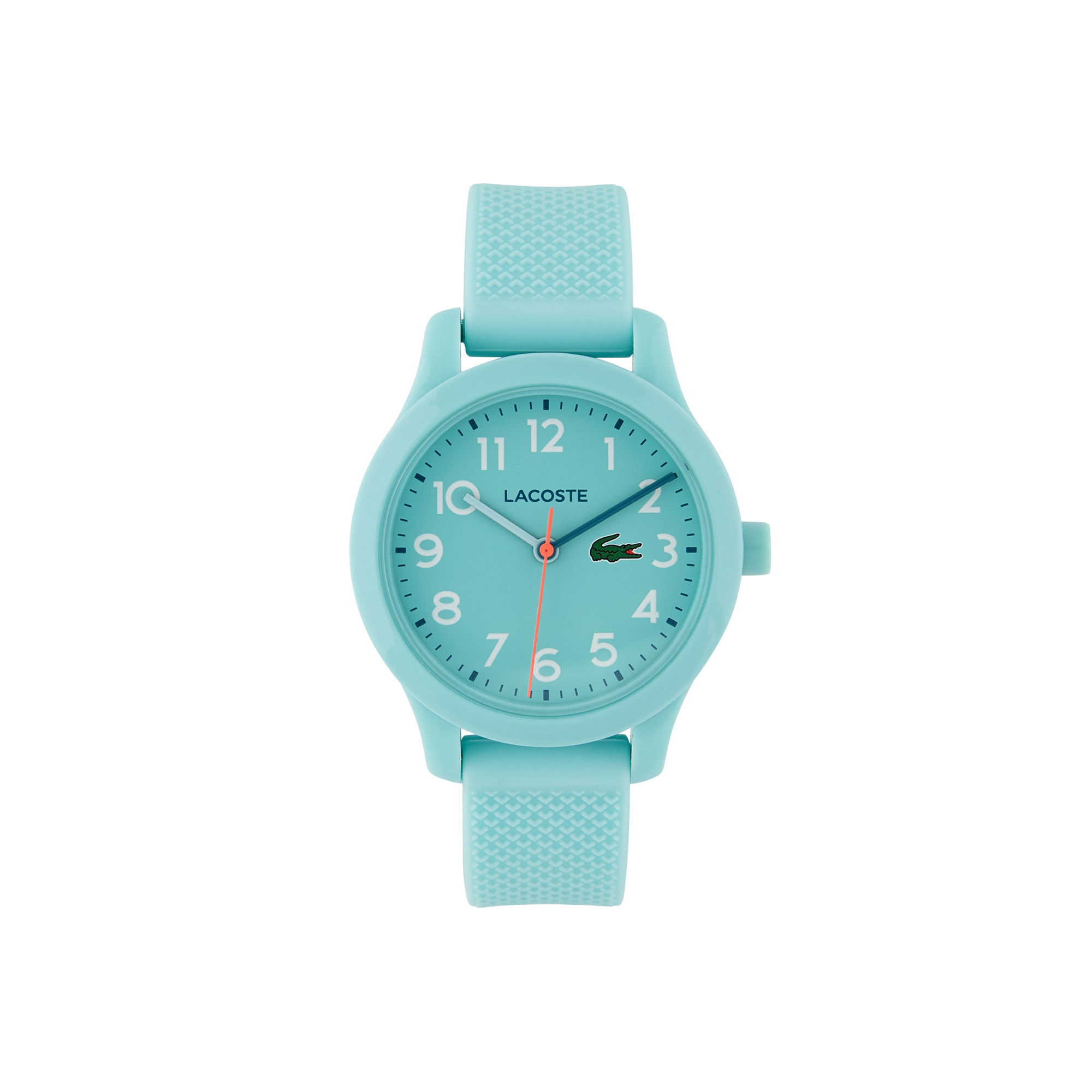 Child's Lacoste 12.12 Watch with Turquoise Silicone Strap