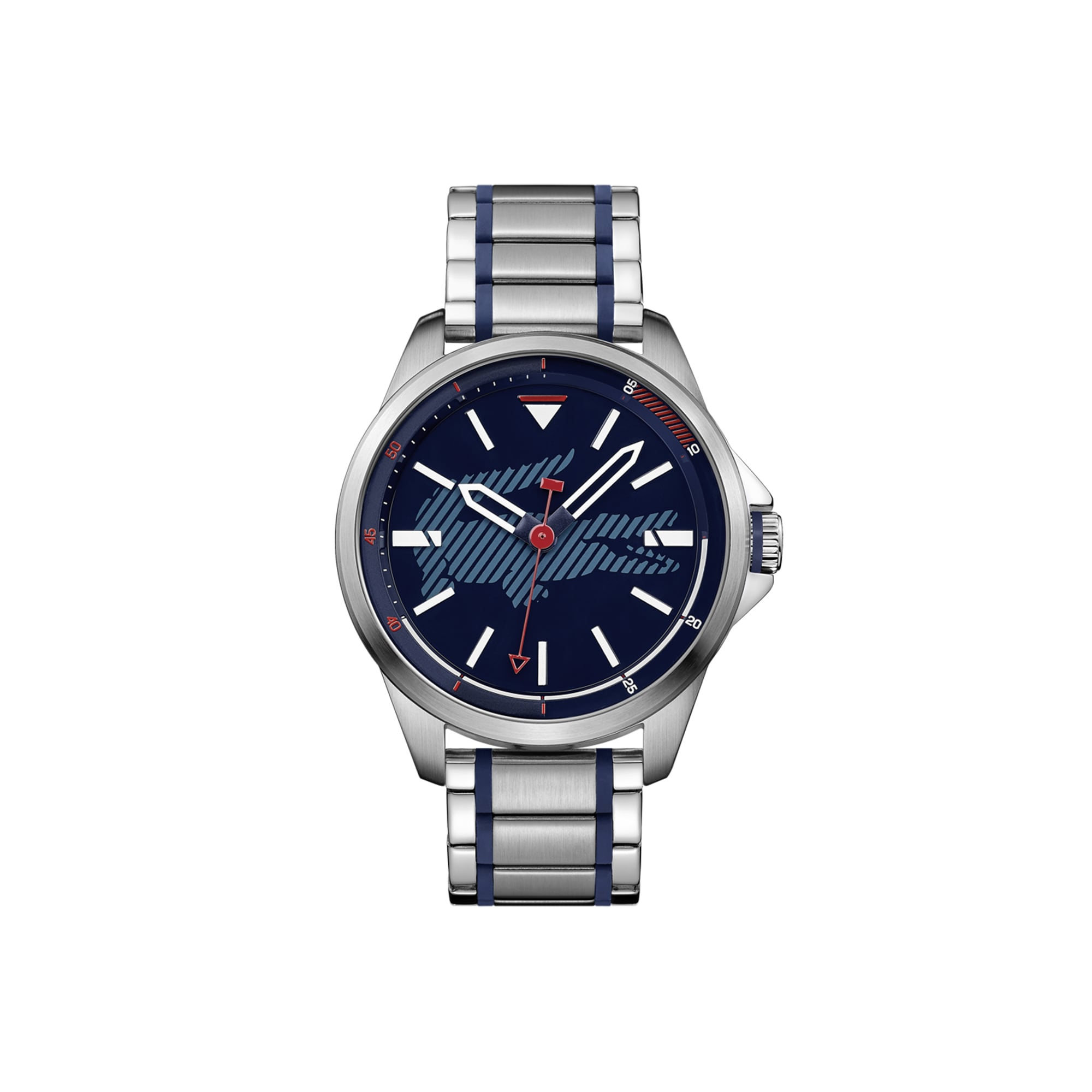 Men's Capbreton Watch with Stainless Steel Bracelet with Blue Silicone Stitches