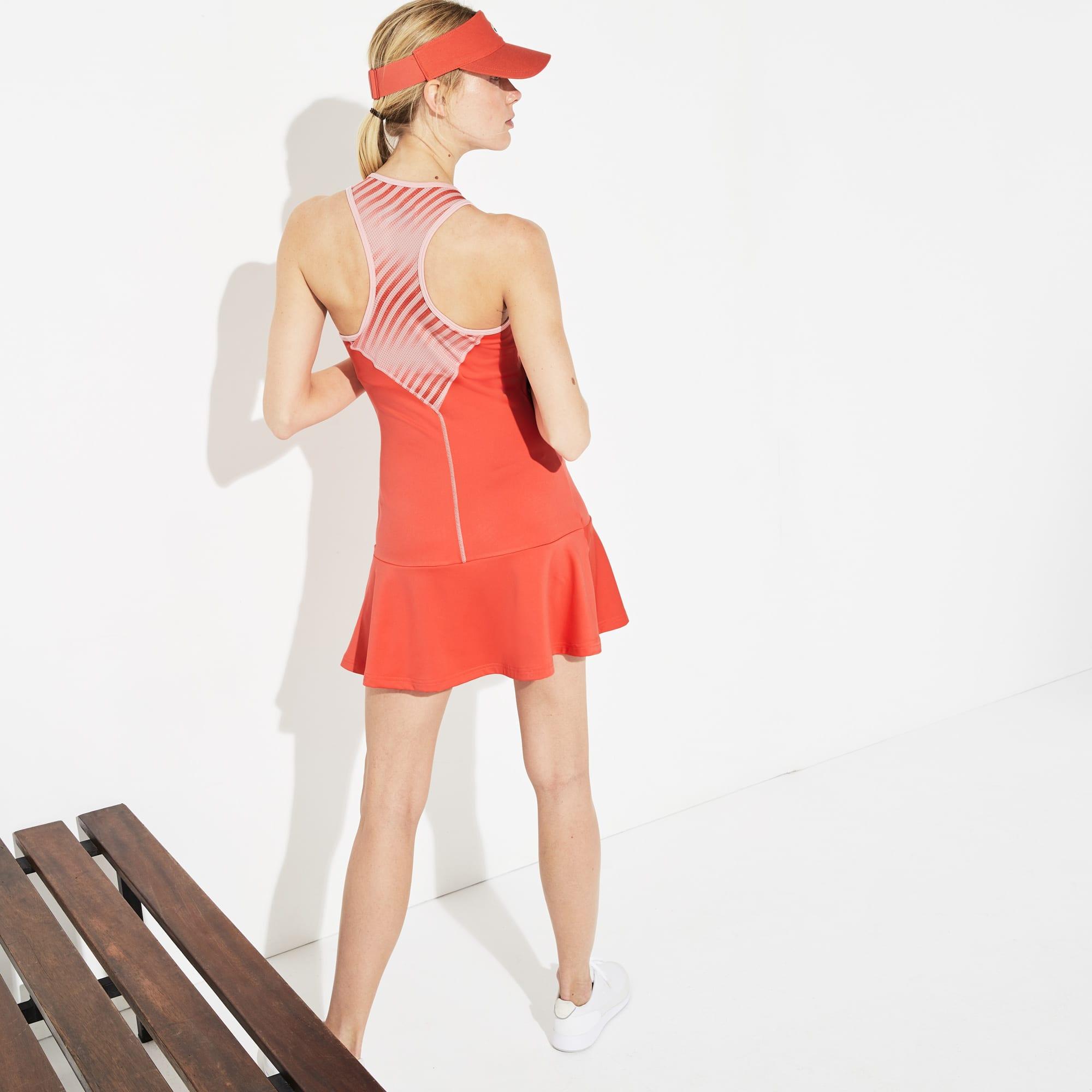 c32d26e03 + 1 colour. 50% off. Women's Lacoste SPORT Racerback Jersey And Print Mesh  Tennis Dress