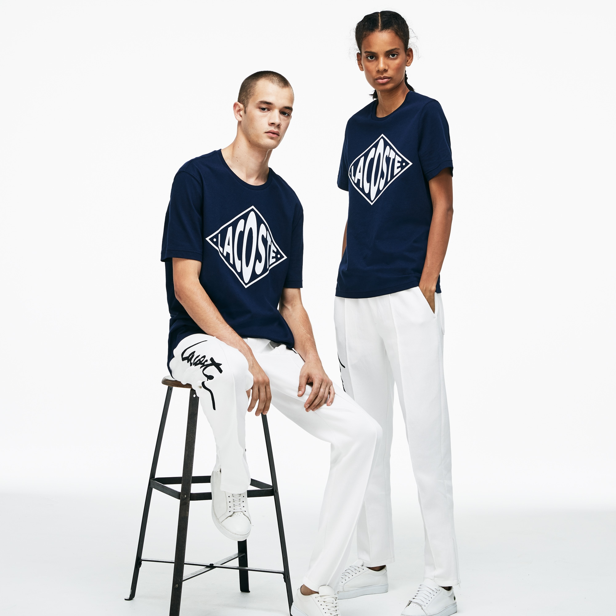 Unisex Lacoste LIVE Embroidered Fleece Urban Jogging Pants