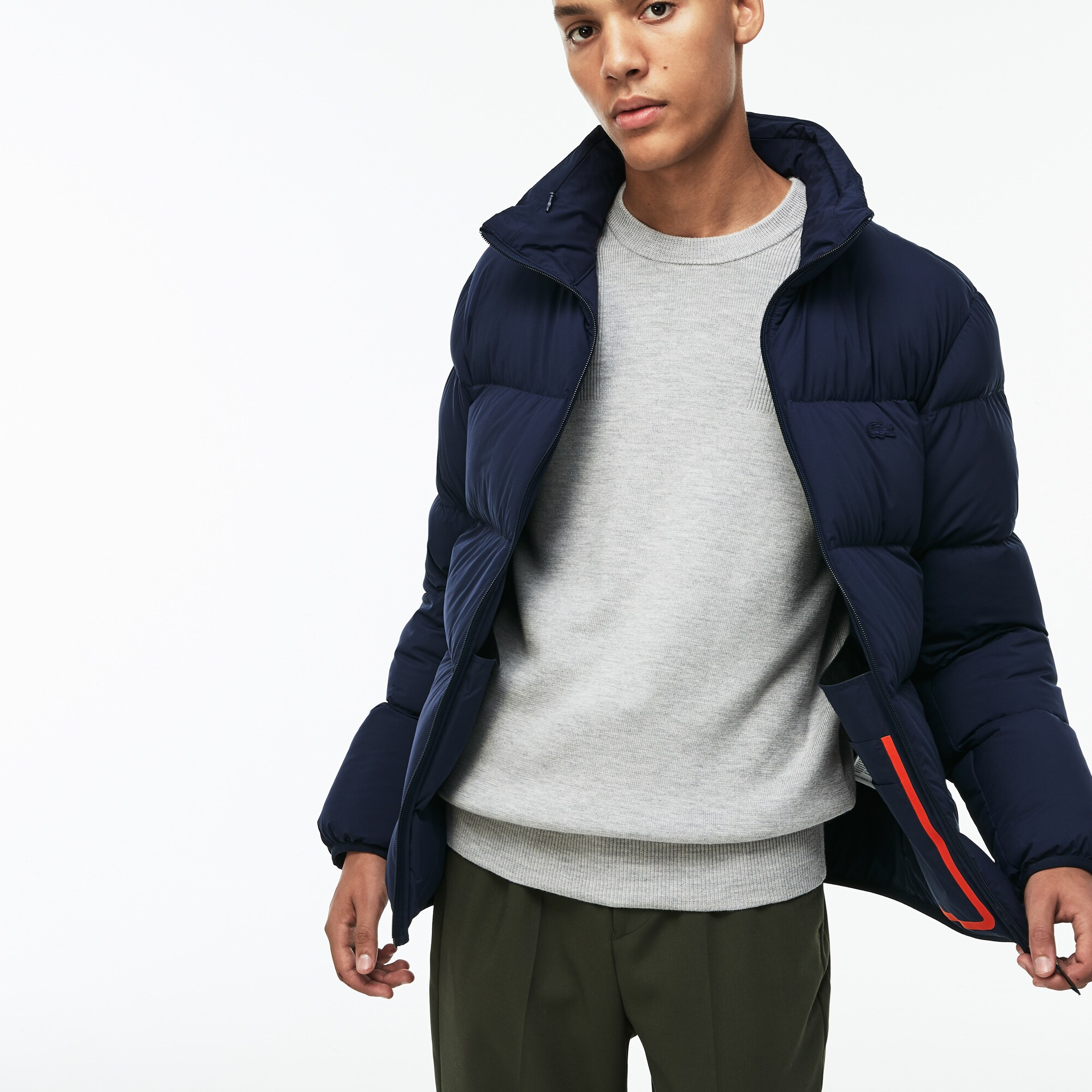 Men's Lacoste Motion Concealed Hood Quilted Jacket