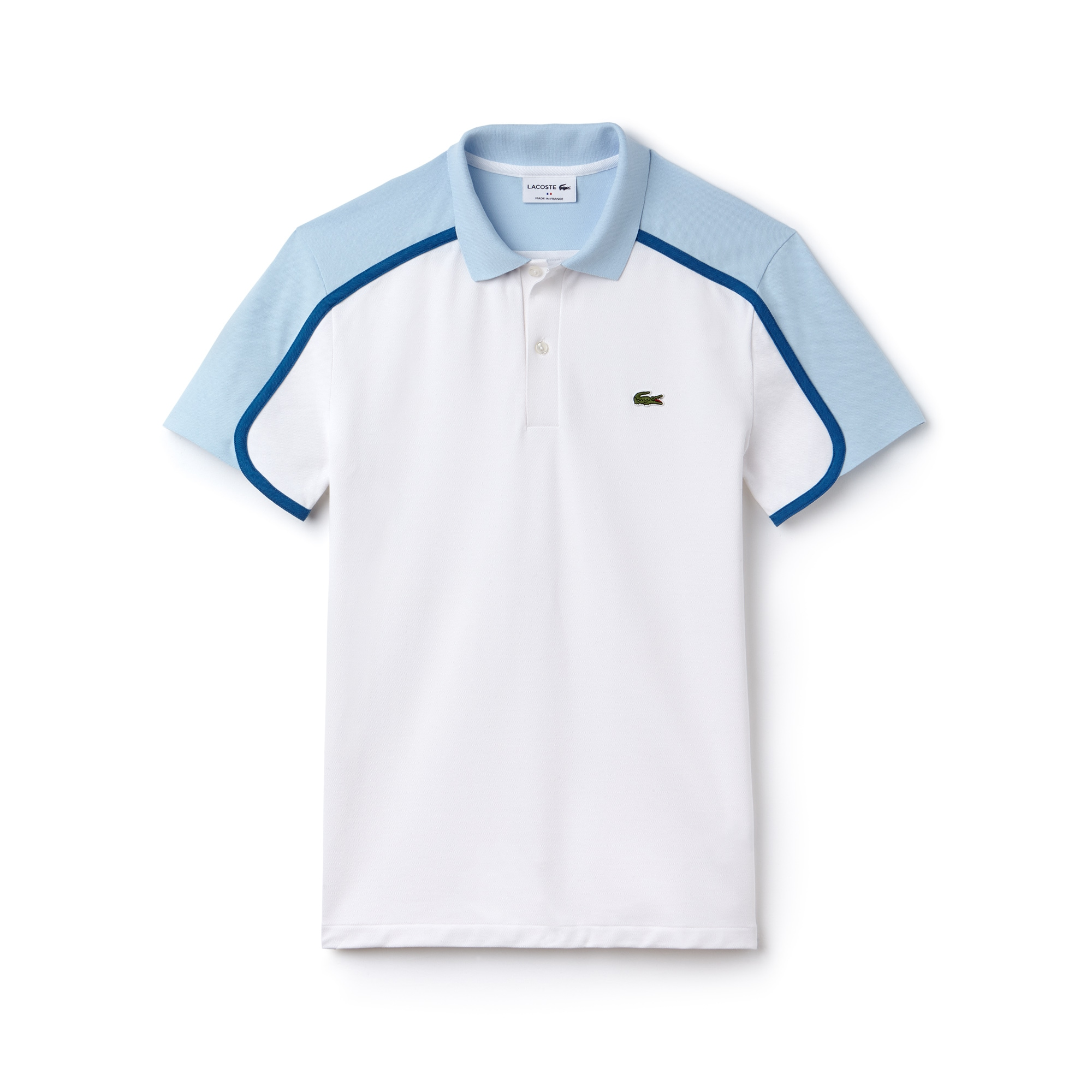 Men's Lacoste Made in France Slim Fit Colorblock Piqué Polo Shirt