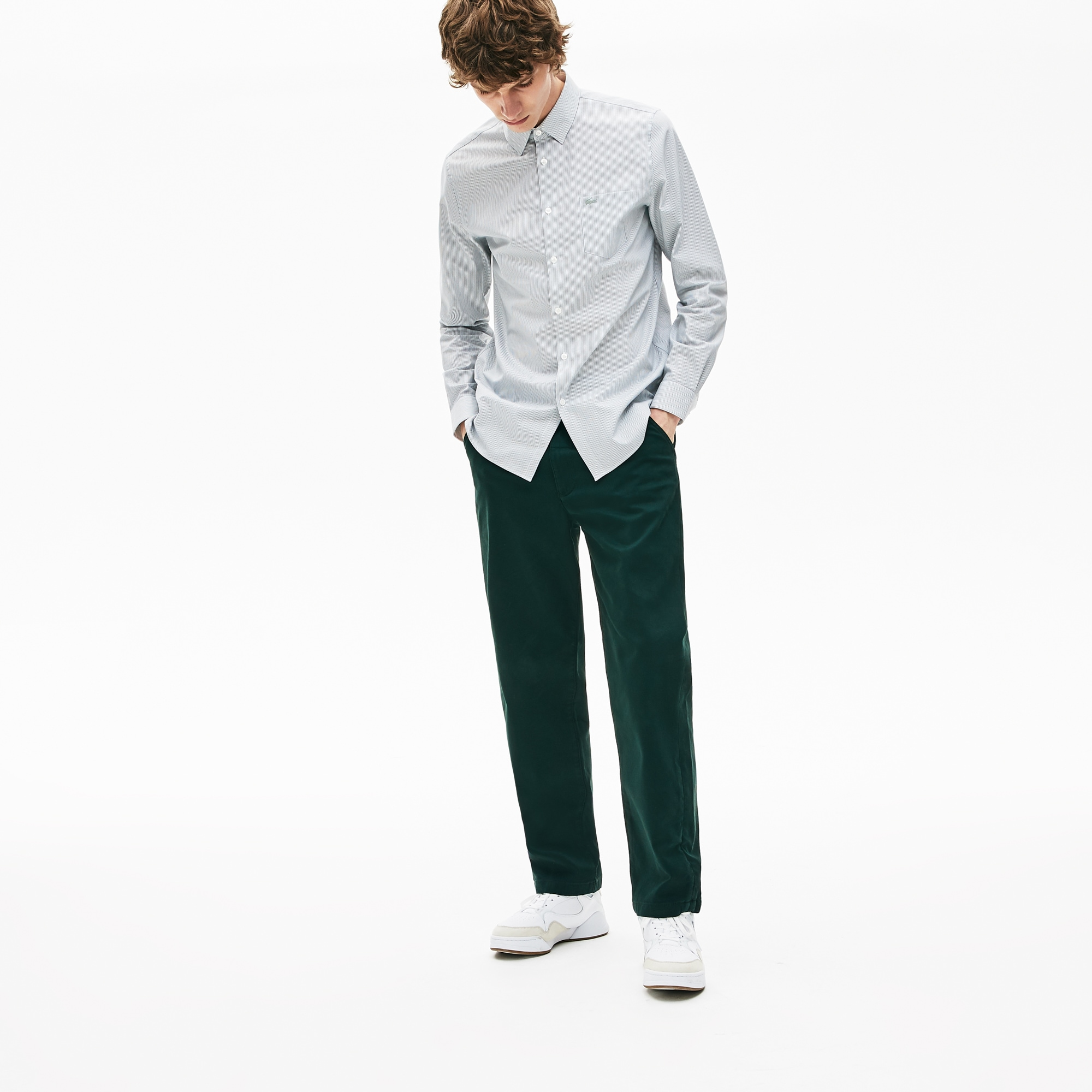Men's Loose Fit Texturised Stretch Cotton Chino Pants