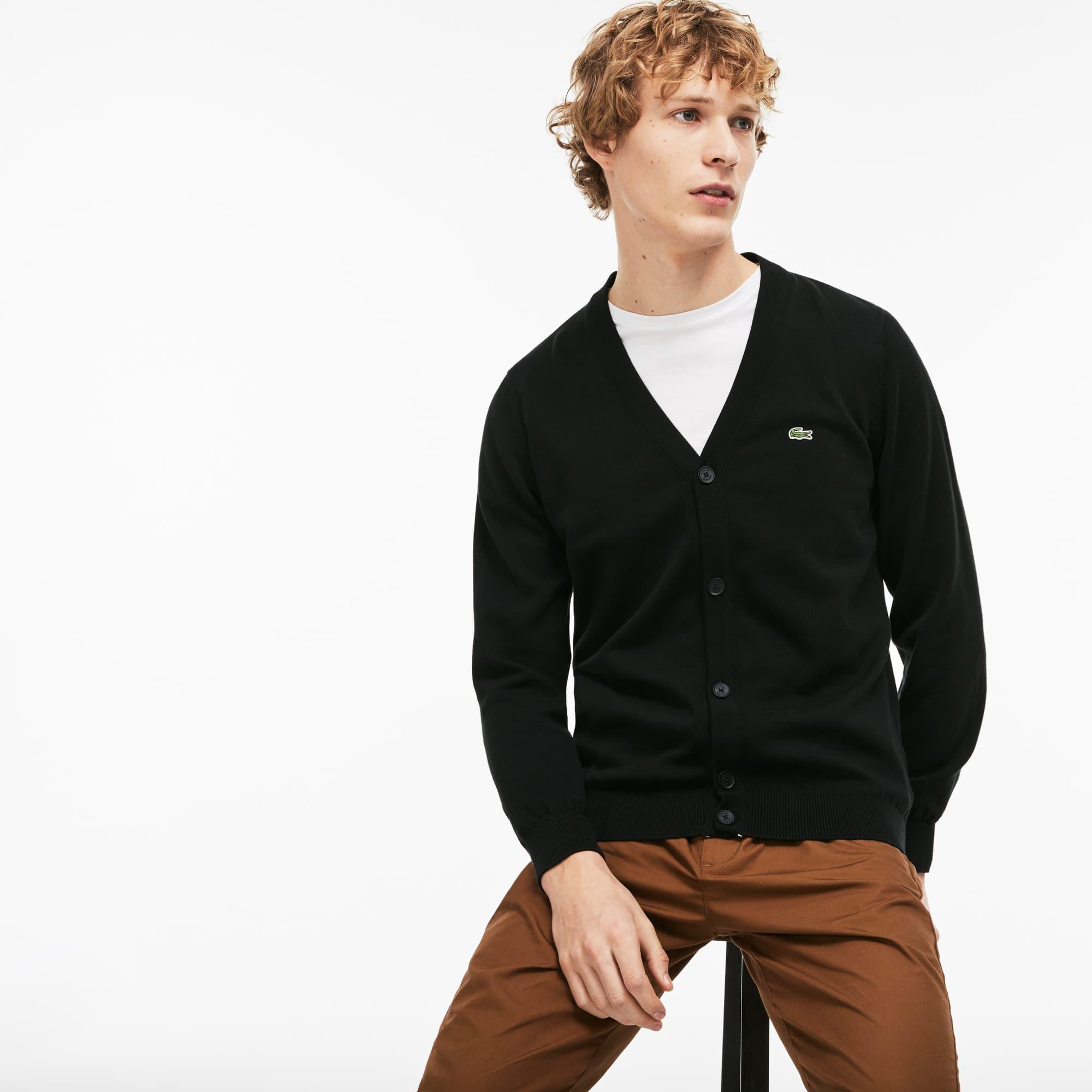 Men\u0027s Cotton Jersey Cardigan. �120.00 120.00 GBP. Colour : BLACK/FLOUR