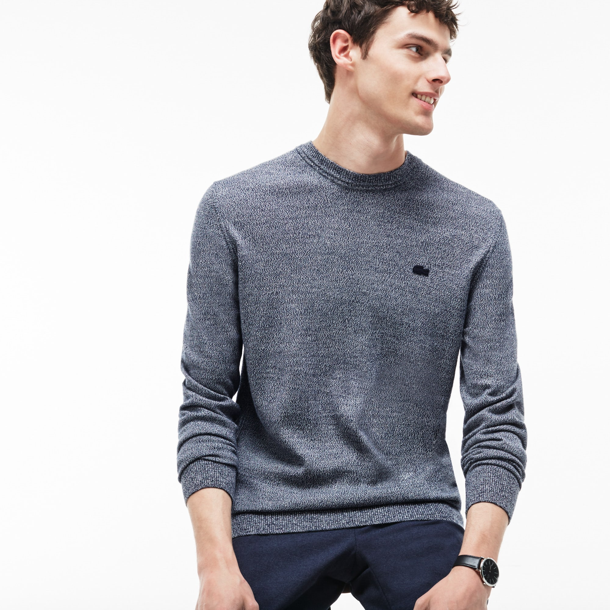 Men's High Neck Wool Jersey Sweater
