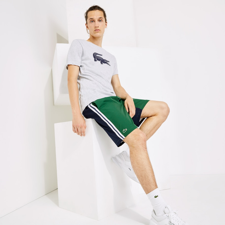 Men's Lacoste SPORT Contrast Band Two-Tone Lightweight Shorts