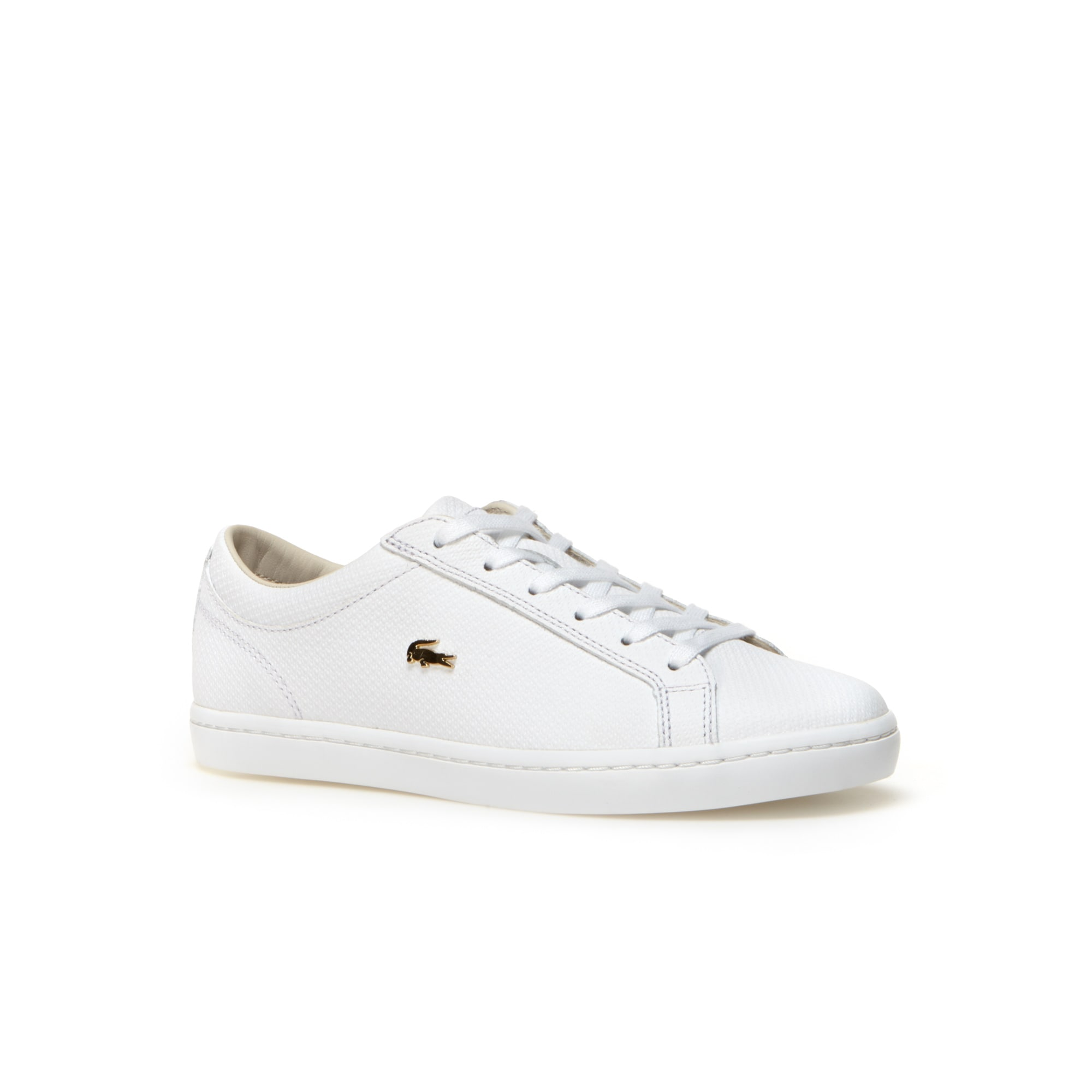 b6008beb9 Women s Straightset Leather trainers With Golden Croc