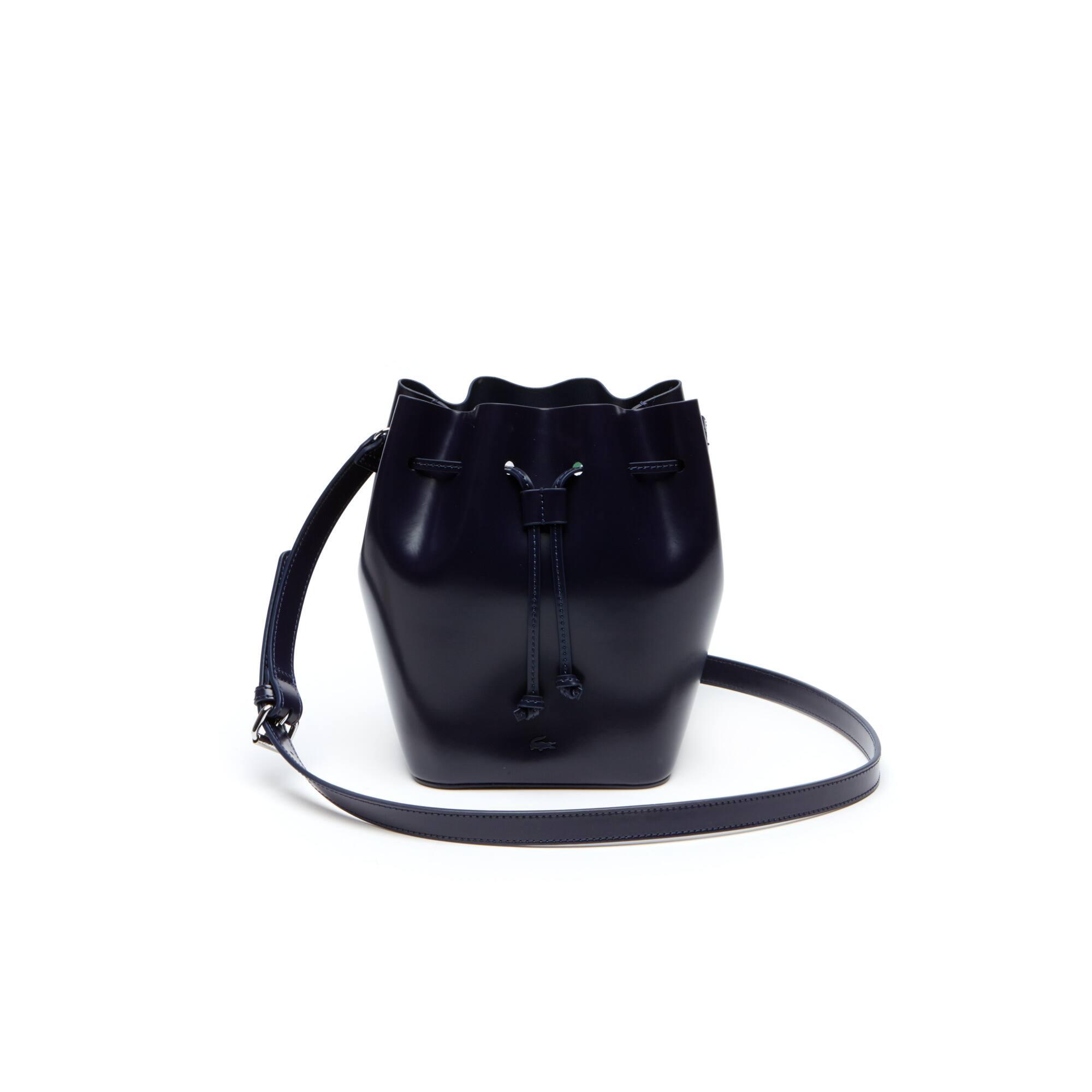 Women's Mini Golf Glazed Leather Bucket Bag