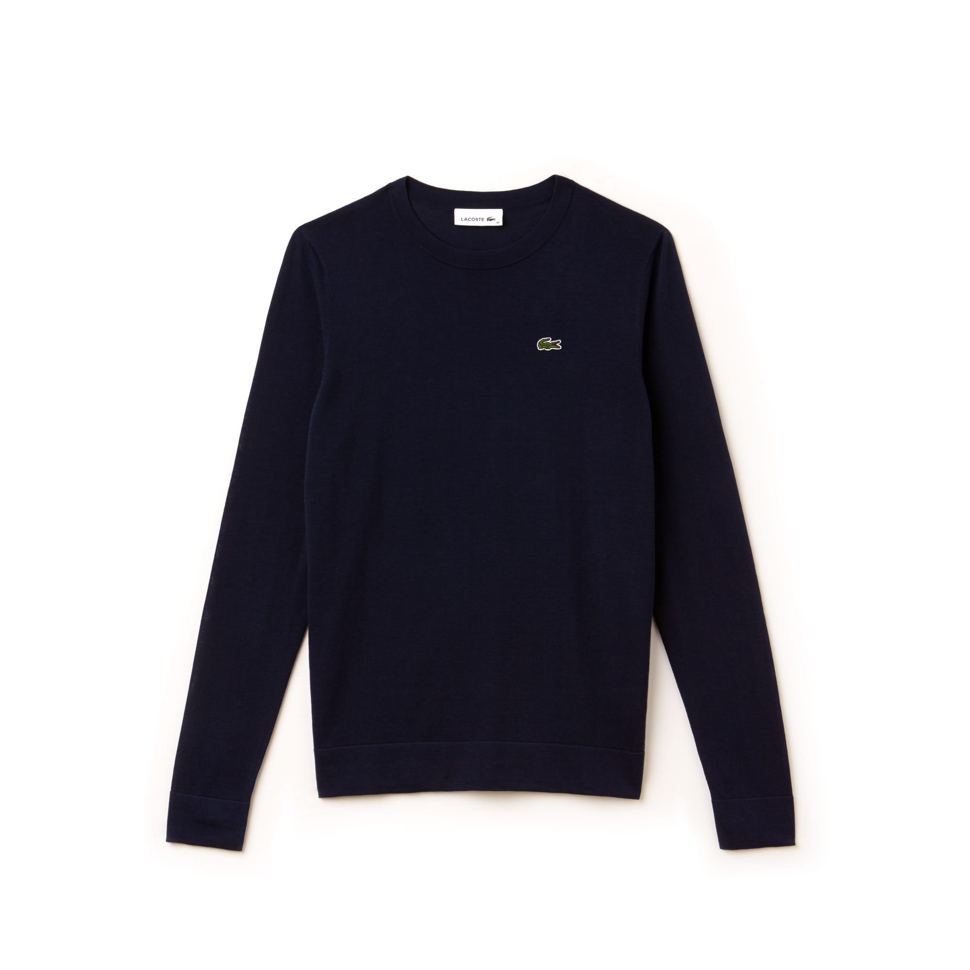 Women's High Neck Pinstriped Cotton Jersey Sweater