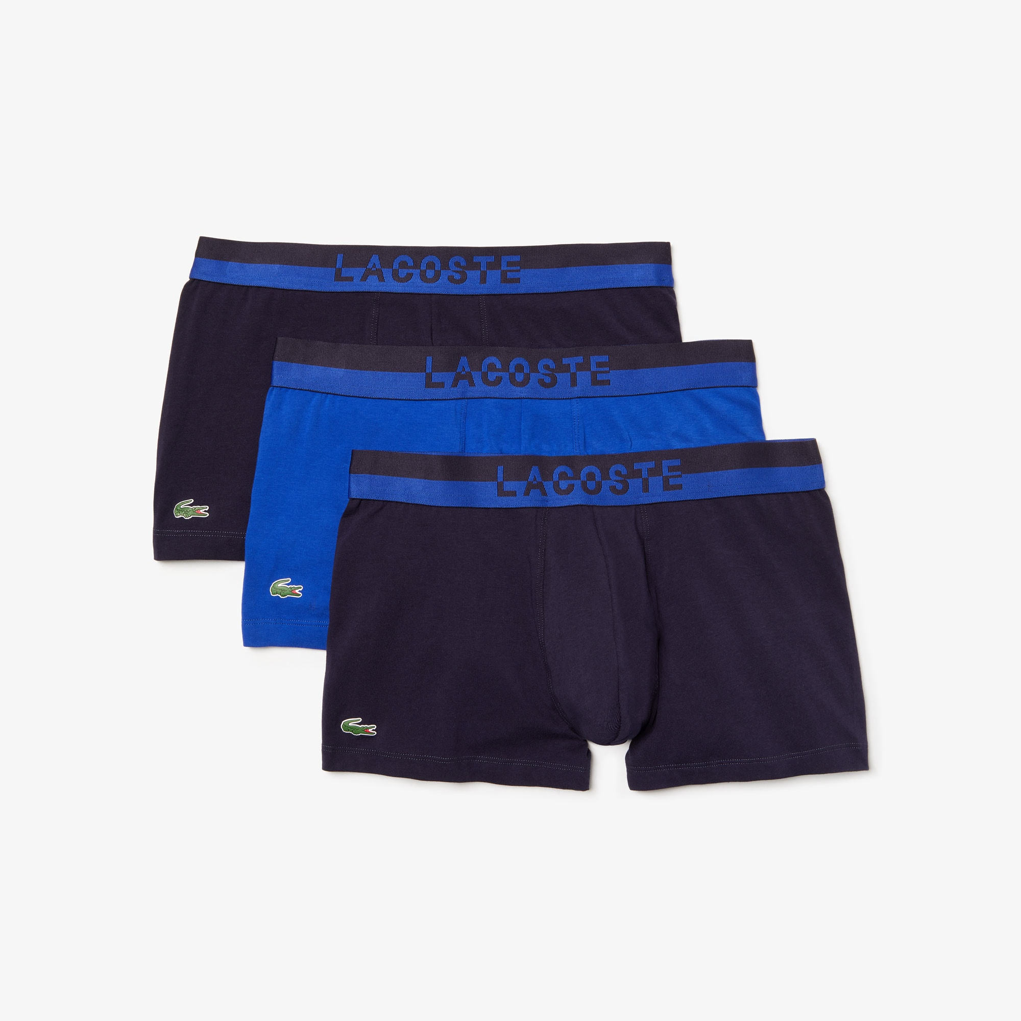 Pack of 3 Colours boxer briefs with contrasting waistband