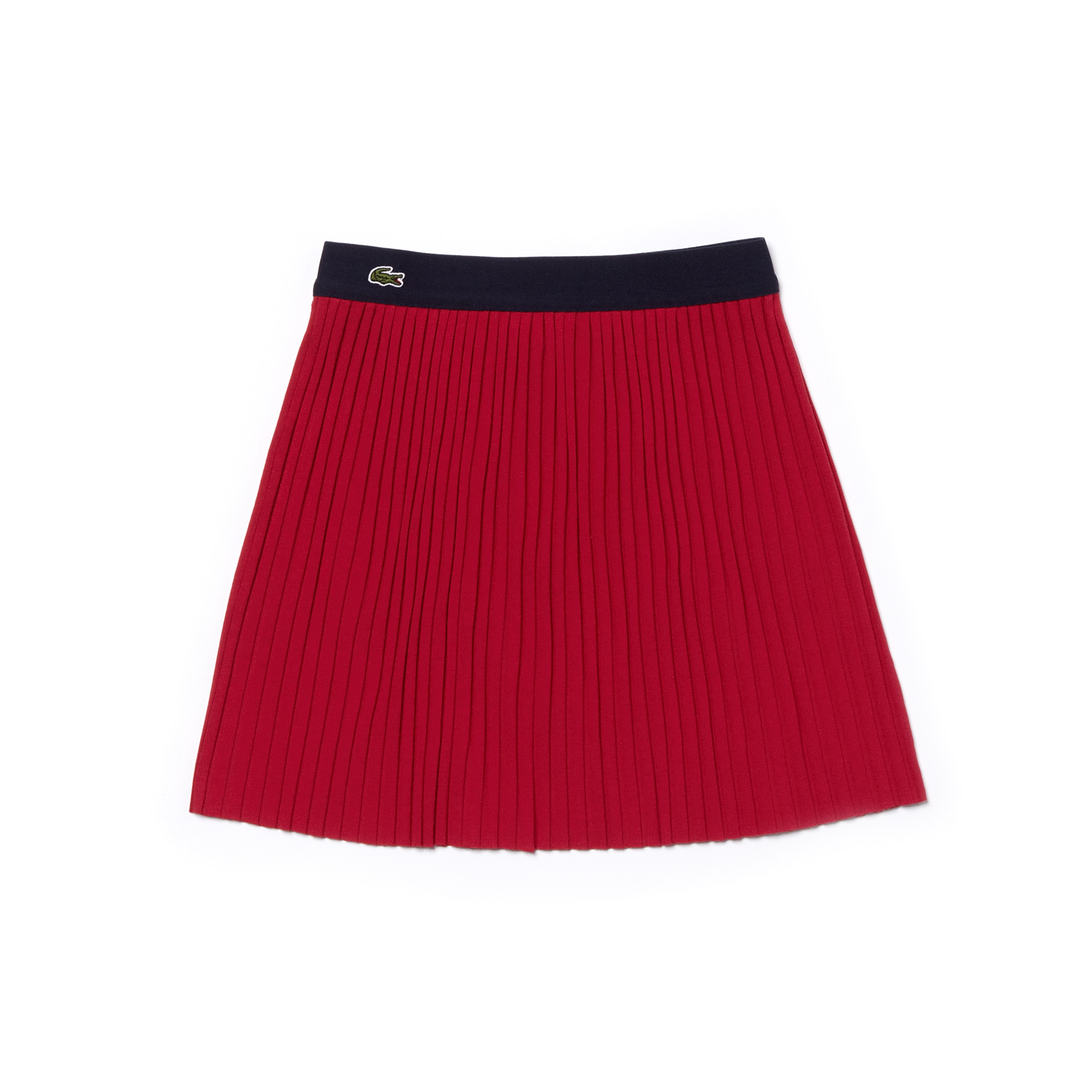 Girls' Flowing Pleated Ribbed Knit Skirt