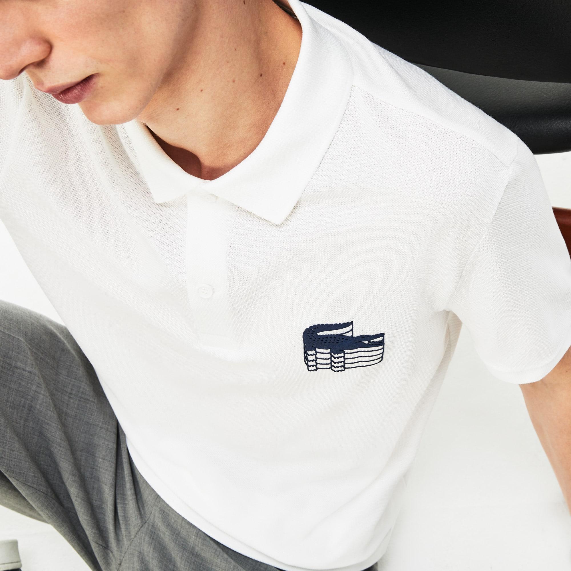 87ce4b836dfd Men s Lacoste Slim Fit 3D Croc Cotton Petit Piqué Polo Shirt
