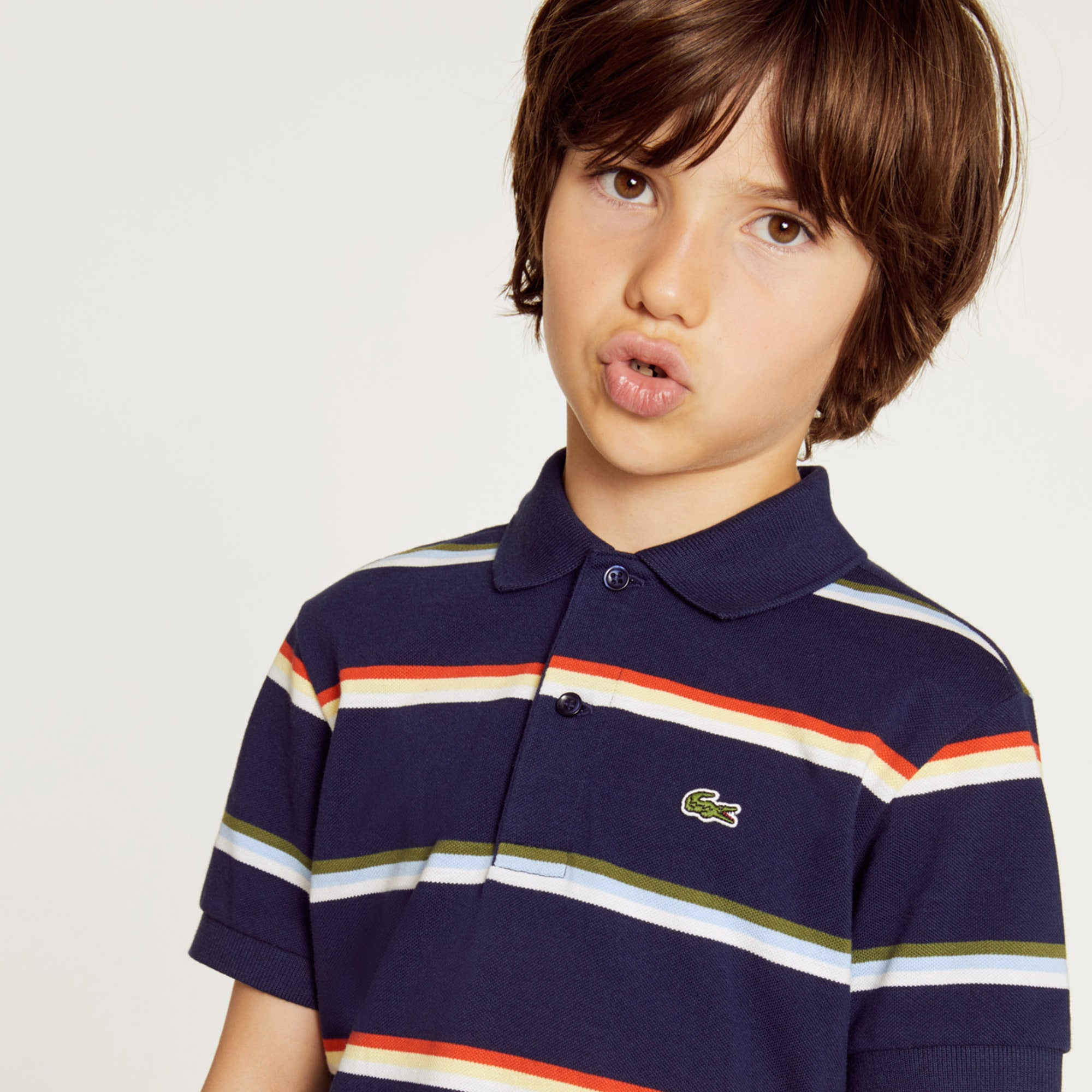 a3fc31036 + 2 colours. 30% off. Boys  Lacoste Striped ...