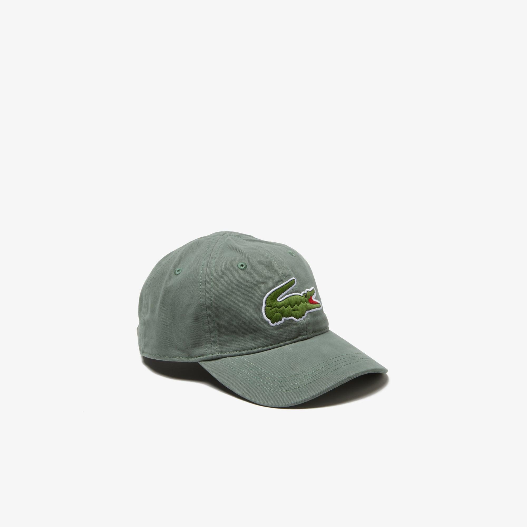 Men s Gabardine cap with oversized crocodile 81907cd15fb5