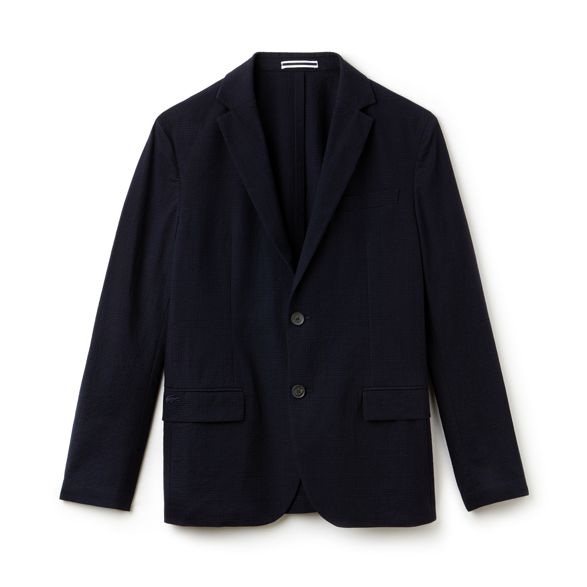 Men's Check Cotton Seersucker Blazer