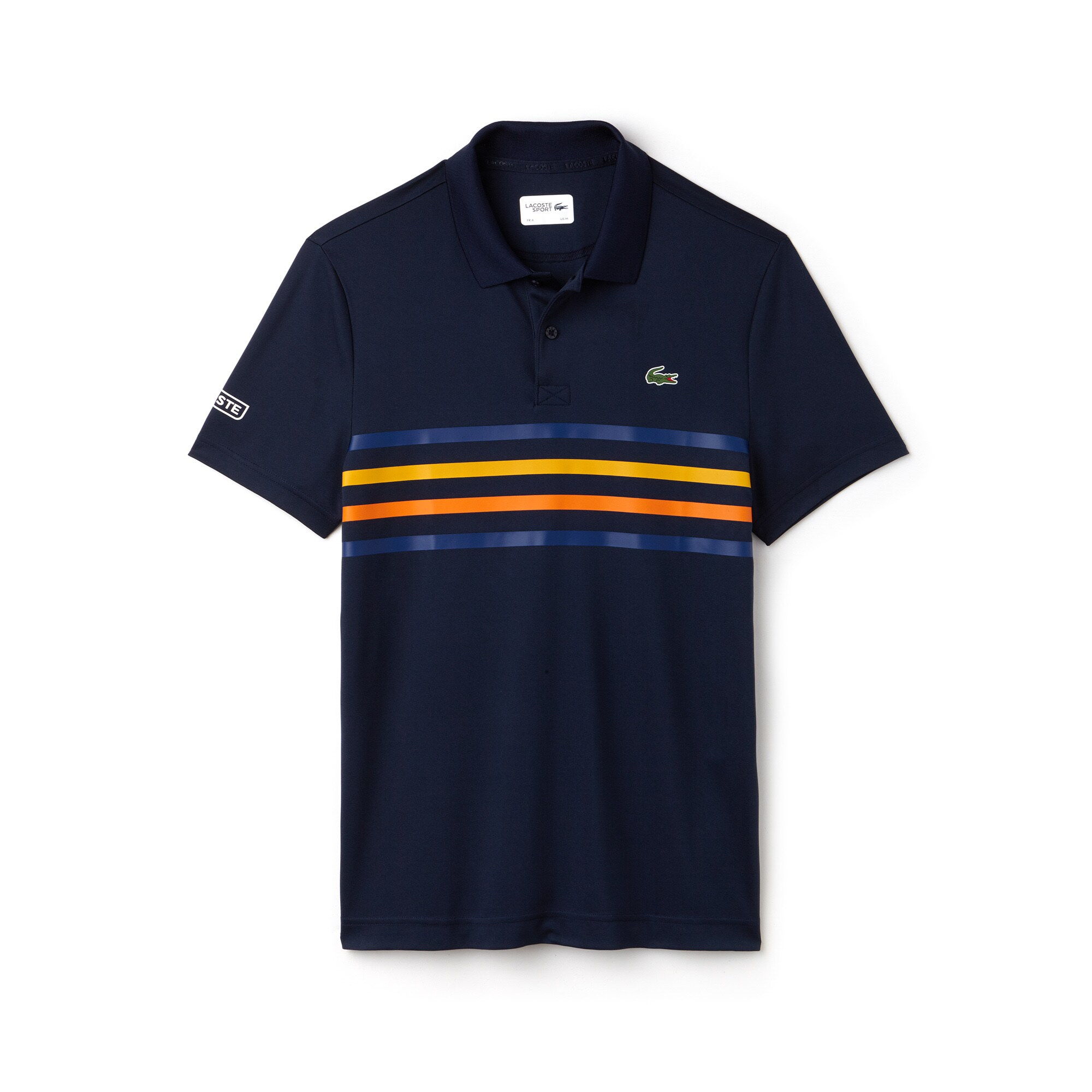 Men's Lacoste SPORT Colored Bands Technical Piqué Tennis Polo Shirt