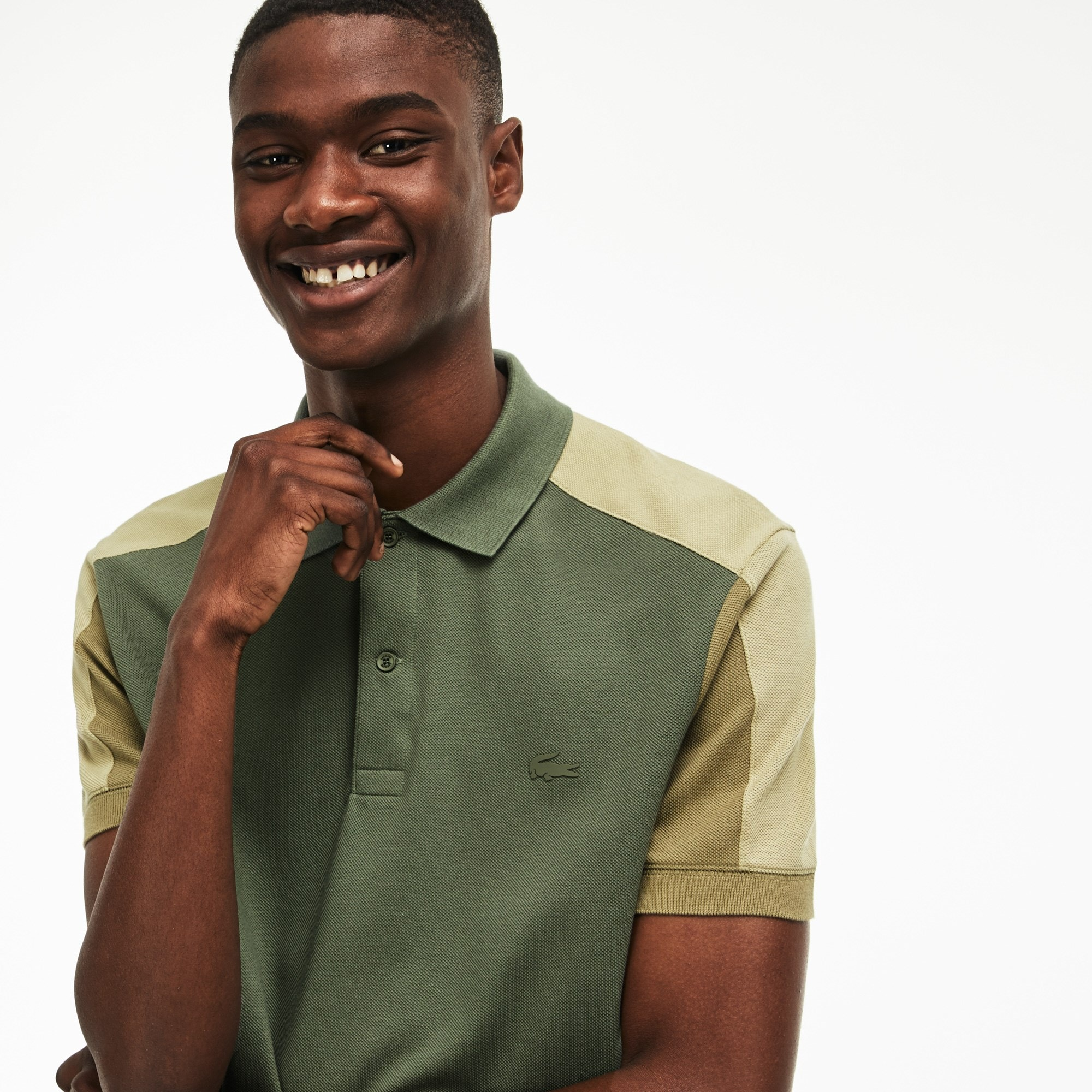 Men's Lacoste Regular Fit Colorblock Petit Piqué Polo Shirt