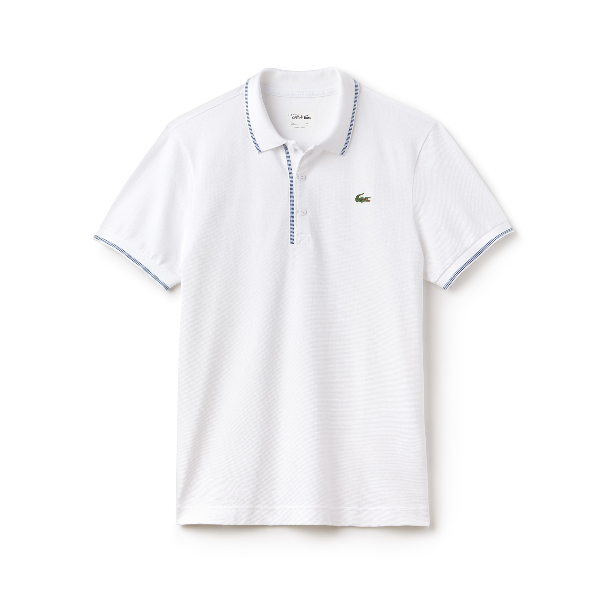 Men's Lacoste SPORT Piped Ultra-Light Cotton Golf Polo Shirt