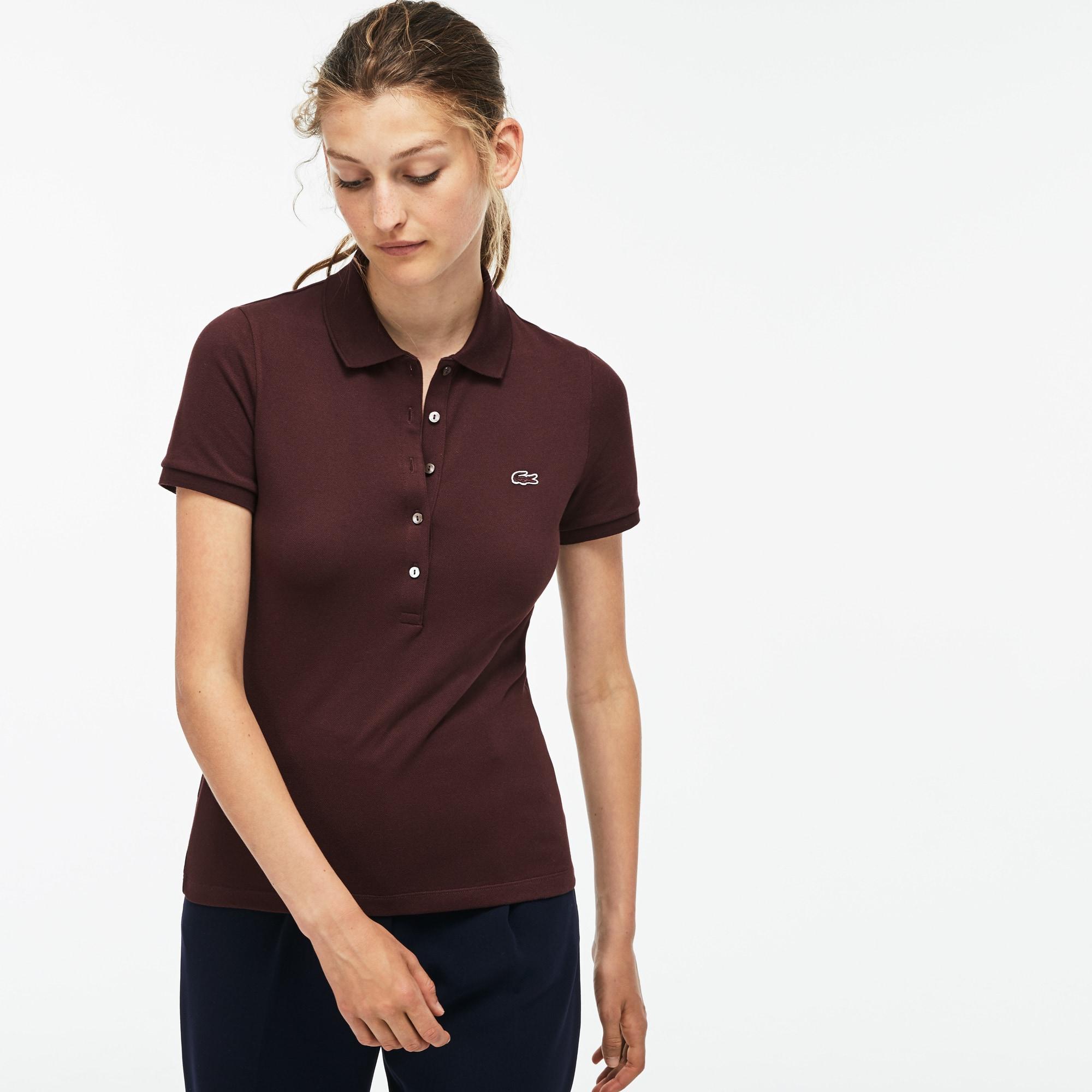 353fff9ce Women s Lacoste Slim Fit Stretch Mini Cotton Piqué Polo Shirt ...