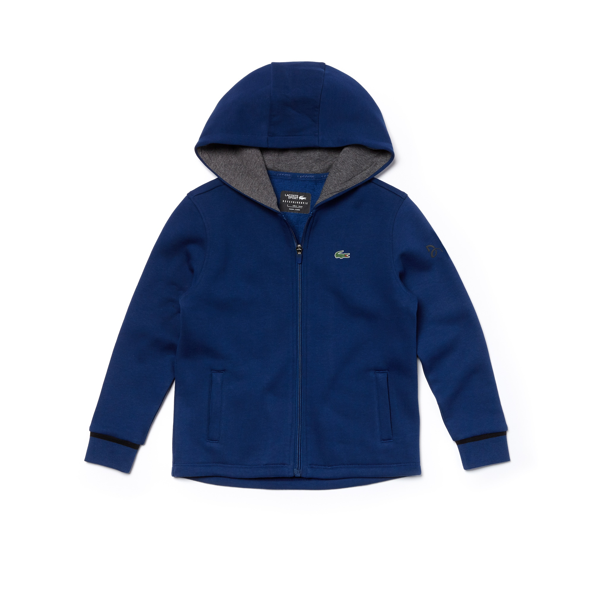 Boys' Lacoste SPORT NOVAK DJOKOVIC SUPPORT WITH STYLE COLLECTION Hooded Fleece Sweatshirt