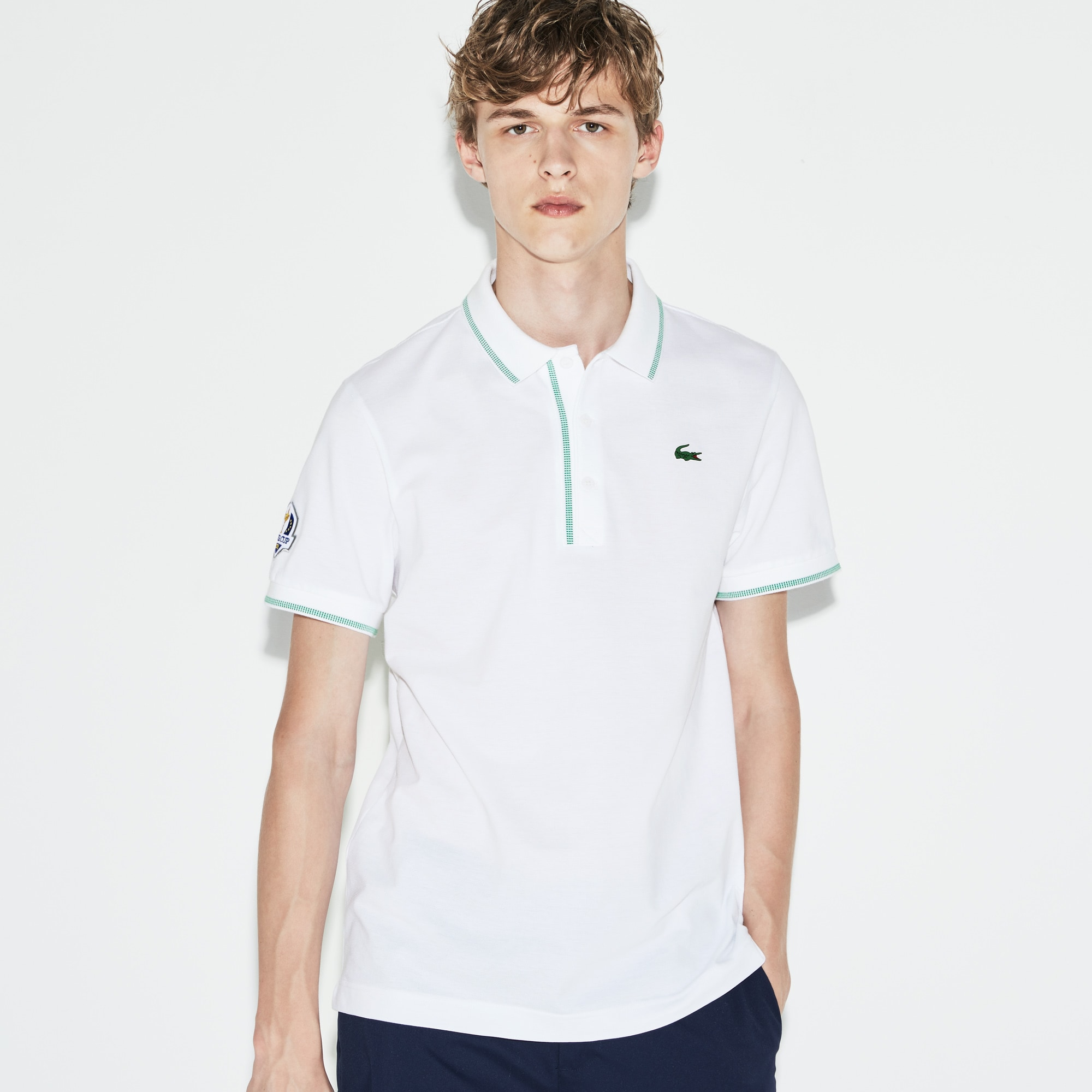 Men's Lacoste SPORT Ryder Cup Edition Piped Cotton Golf Polo...